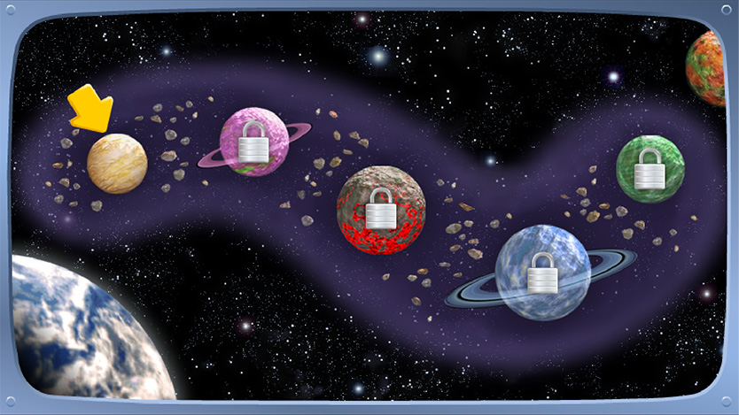 Screen design & 3D illustration / Backyardigans Space Adventure Agency: Smashing Ideas Client: Nick Jr. (2008)