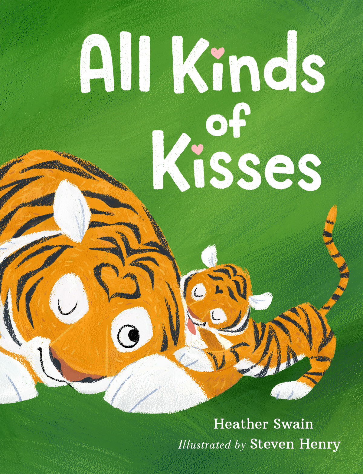 All Kinds Of Kisses cover Hand-drawn title Publisher: Feiwel & Friends / Macmillan (2016)