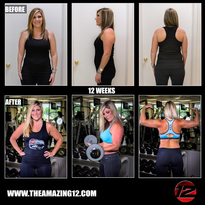 Why did I want to start the Amazing 12 Program?  I was tired of looking in the mirror and not liking what I saw. I have exercised off and on for several years, but I never would get the results I wanted. I needed guidance and accountability.  In the beginning,I had high expectations of losing at least 20lbs and becoming very thin and toned! My expectations started to change somewhere in the mix, although I still have not reached my final goal, I have climbed leaps and bounds. I AM strong!!!! Not just physically, but mentally too. When I look in the mirror, I am happier, more confident, healthier, stronger, and I began to like what I was seeing!! This program has helped me in so many ways, and it's so much more than just weight loss...It's life changing!  Many that know me may find this hard to believe, but in the beginning I was completely intimidated! I wondered if I'd be able to keep up with everyone or even do the exercises. I was afraid that my hand (I was born with only part of my right hand) would hold me back in areas, which was my reasoning for never trying free weights. I did not want to stand out as being different from everyone else, and I've worked hard all my life not to! I've always found my own way around doing things, nevertheless, weight training was just one thing that felt wasout of my reach. BUT, with the encouragement from my husband, I managed to gain the courage to sign up for the Amazing 12 and I am certainly glad that I did!! ( I want to mention that right from the beginning, Amanda was very excited to work with me and to help me to conquer any challenges I might have.) I learned quickly that I could do much more than I imagined, Amanda worked with me and for me, always trying to find ways that would give me good results if I needed to make modifications. I can not say enough about what an amazing trainer she is! She has helped me to overcome my fear and any intimidation I had with lifting weights, and she has been beside me every step of th