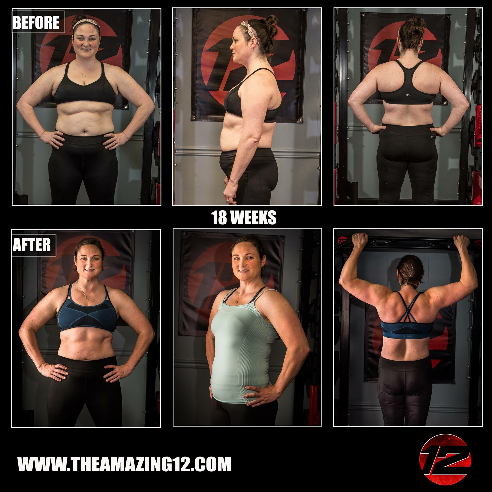 """""""I cannot say enough how much of a blessing the Amazing 12 has been for me. Several things happened over the last few years that left me with a great loss of core stability as well as low back pain during work and while taking care of my children.   I never thought I could gain so much strength so quickly. The health gains from this program are remarkable! I've heard so many people say """"I can't lift weights like that"""" or """"I don't know anything about fitness"""". This program is for EVERYONE! You lift what is comfortable for you and make extraordinary gains in strength while losing fat. I feel so blessed to have had the opportunity to be part of the Amazing 12! I am able to work more effectively and take care of my children much more easily with the amazing gains I've made. THANK YOU SO MUCH AMANDA!!!!!!!!!!!"""""""