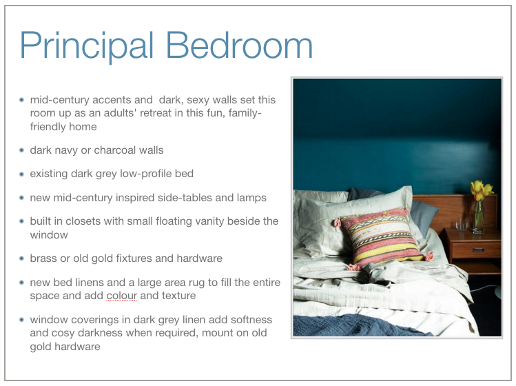 Principal bedroom overview and inspiration.