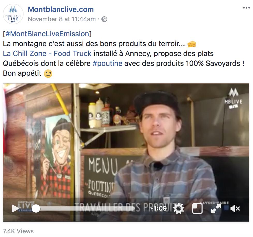 - Des bons produits d'ici,des plats Québécois...A ne pas manquer les coulisses de La Chill Zone - Food Trucksur notre page Facebook 🎬Un grand merci à#MontBlancLiveEmission