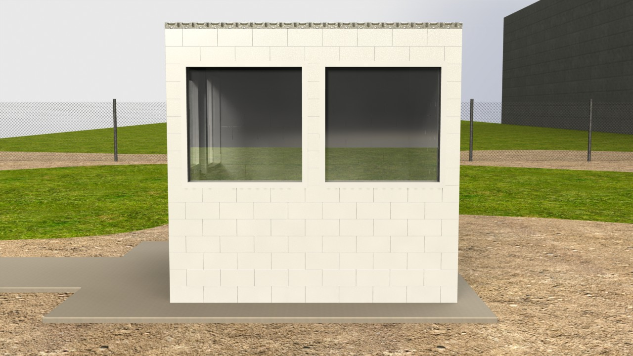 Create temporary or semi-permanent guard shacks, storage buildings, and offices and install windows and doors as you would on a traditionally constructed building.