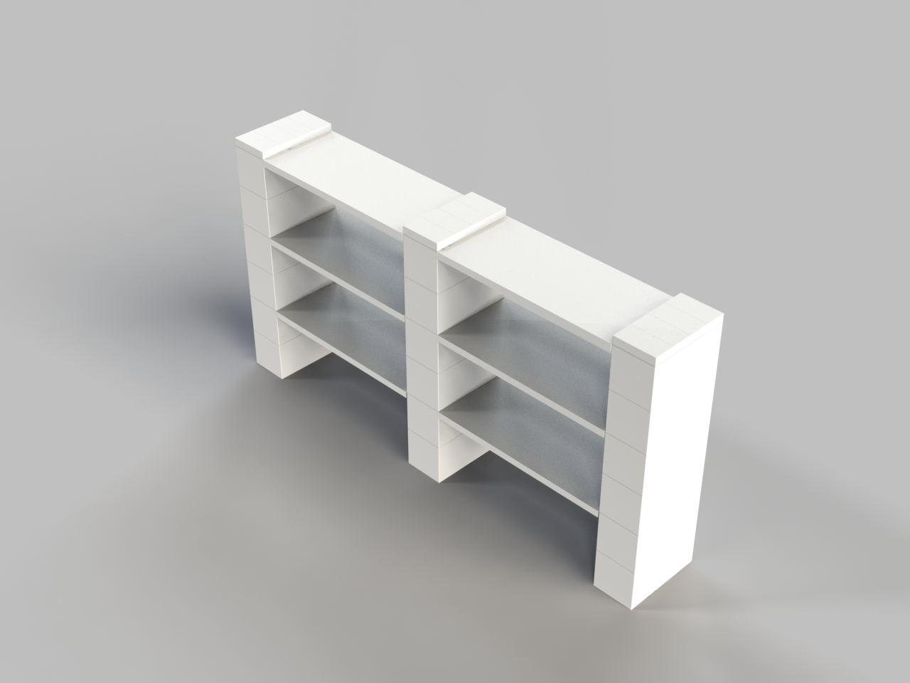 3 Level Double Shelf