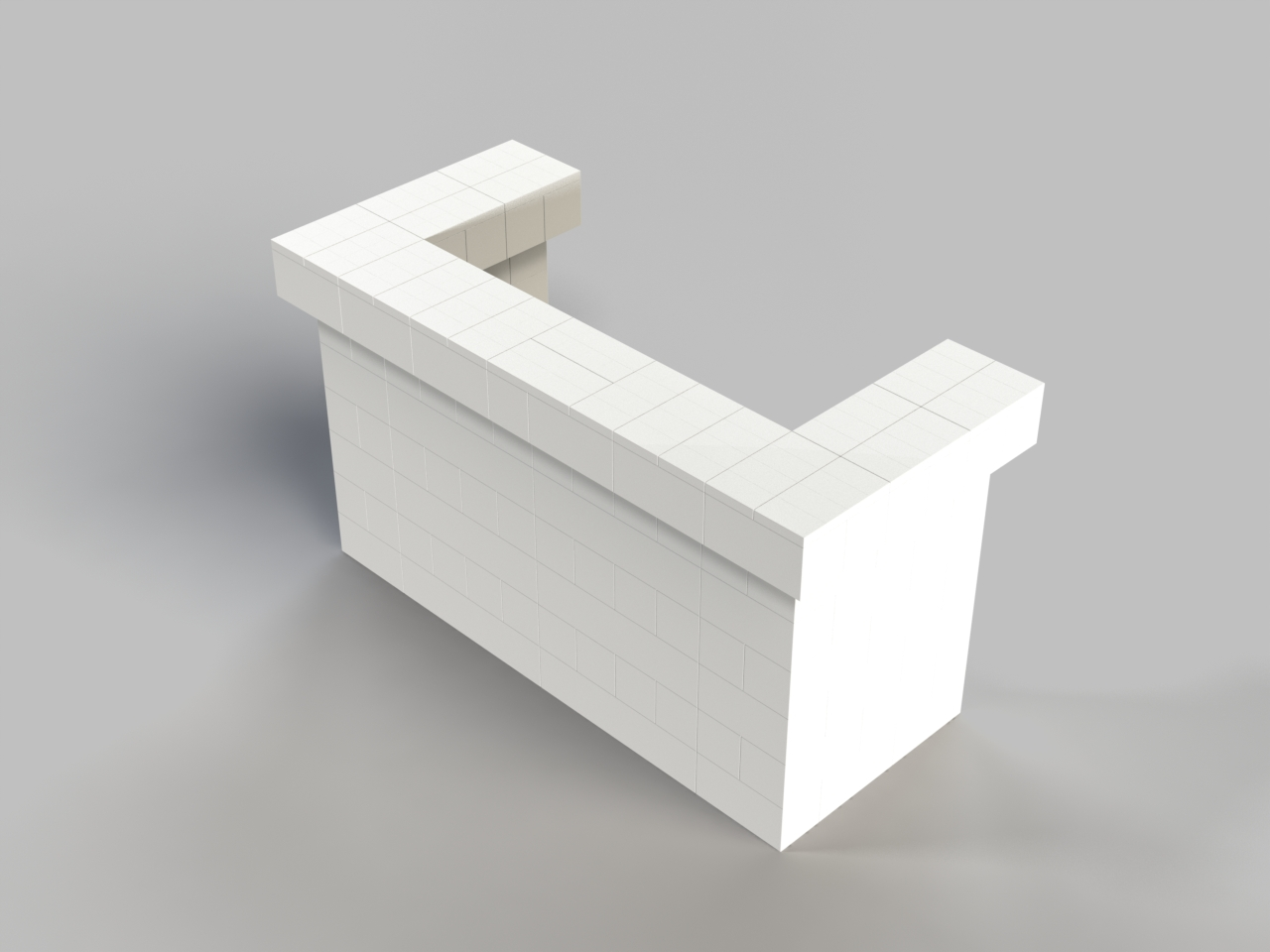 6ft, 1 Layer, All Sides Cantilevered Bar