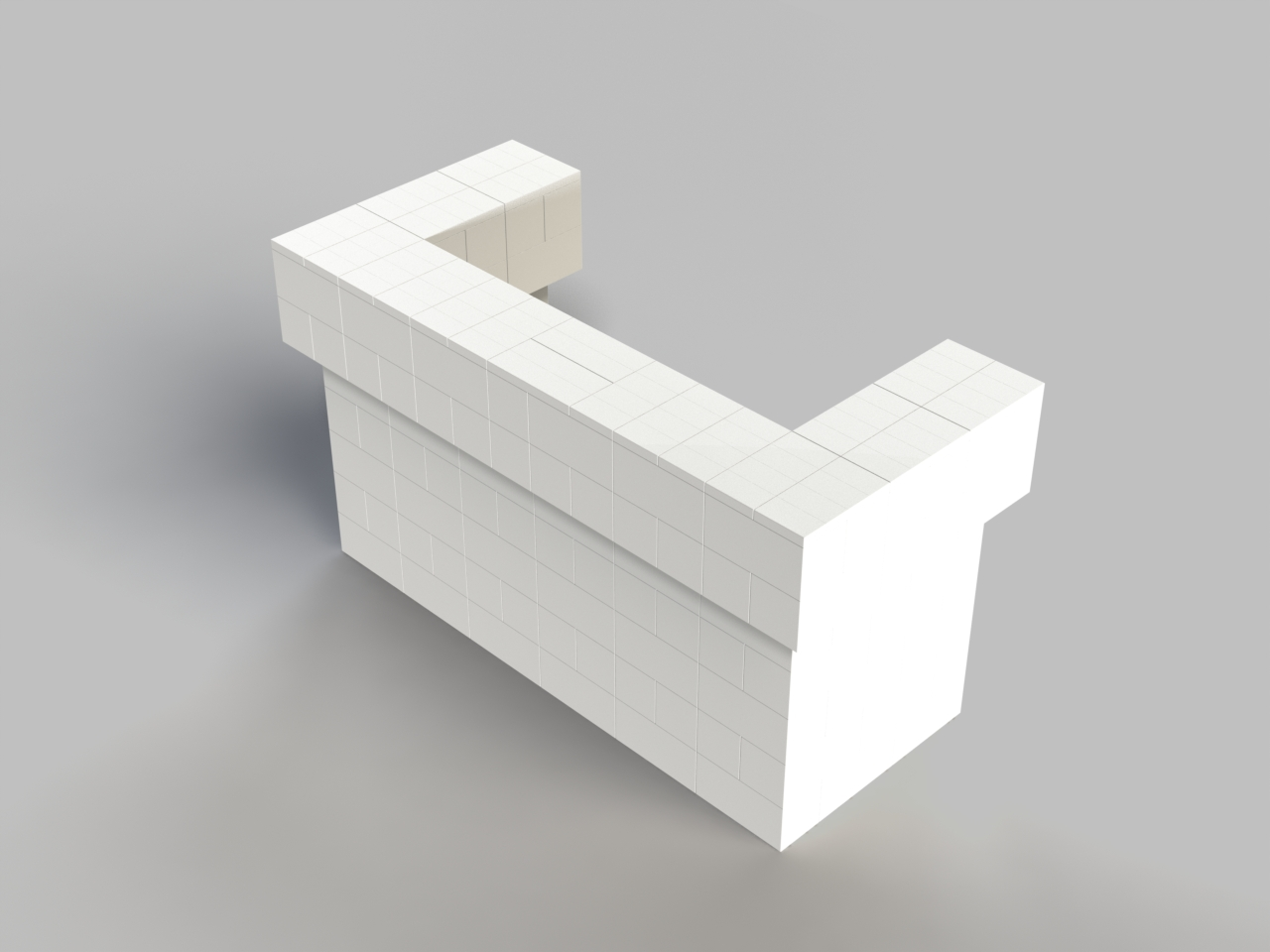6ft, 2 Layer, All Sides Cantilevered Bar