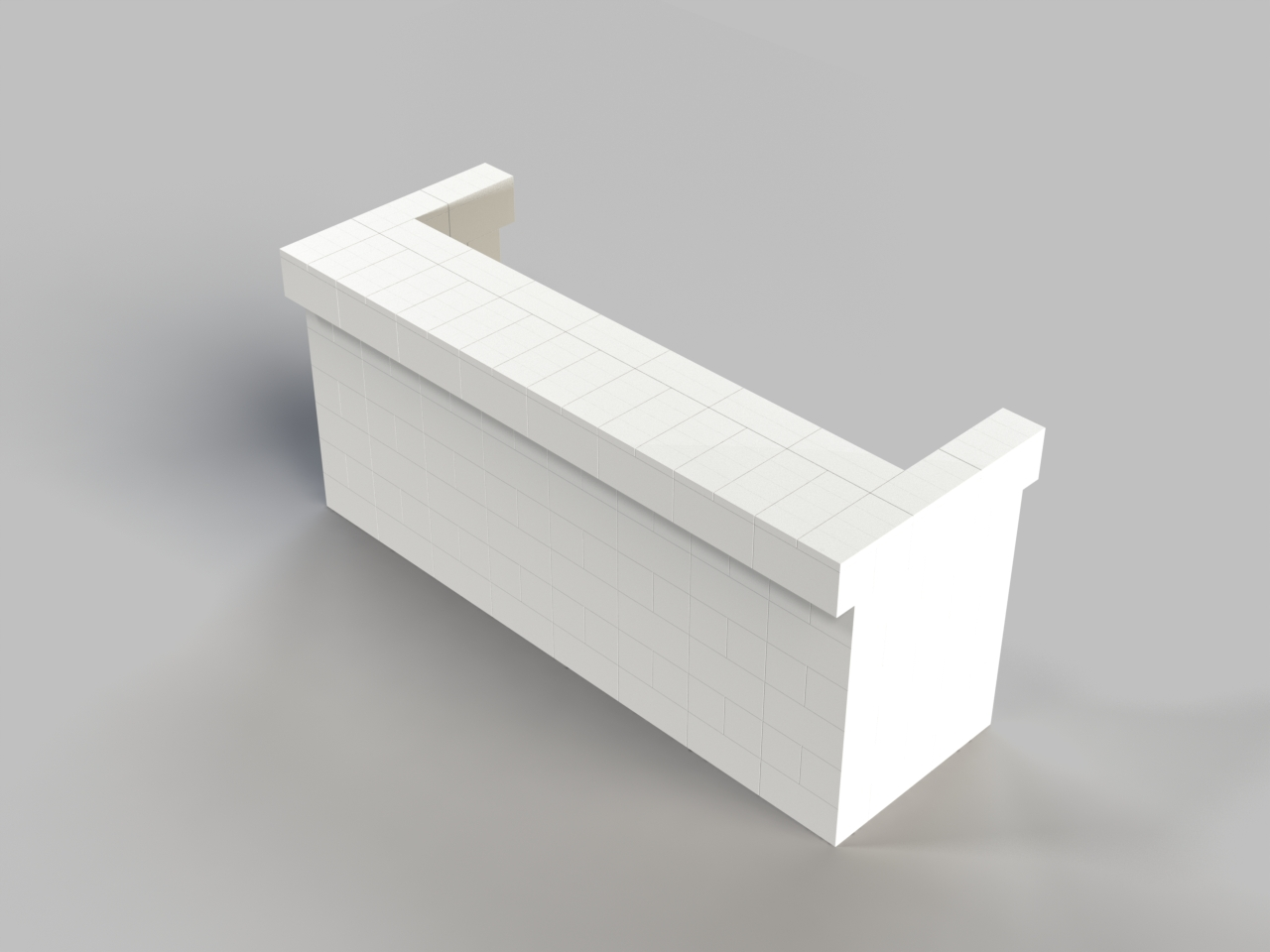 8ft, 1 Layer, Front Cantilever Bar