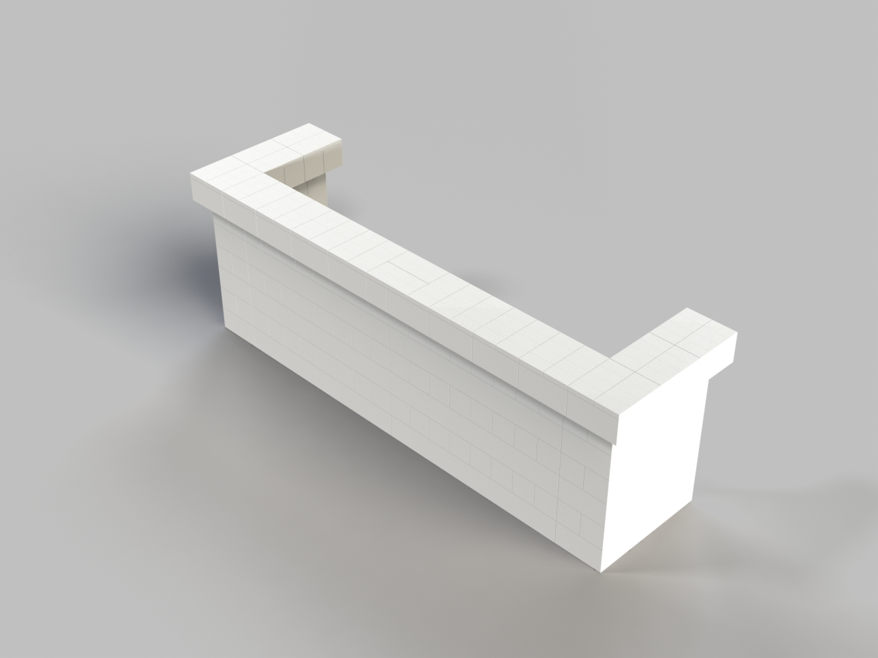10ft, 1 Layer, All Sides Cantilevered Bar