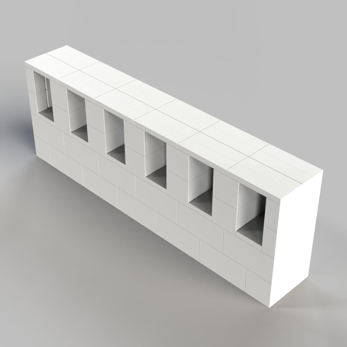 6ft Consol / TV Shelf