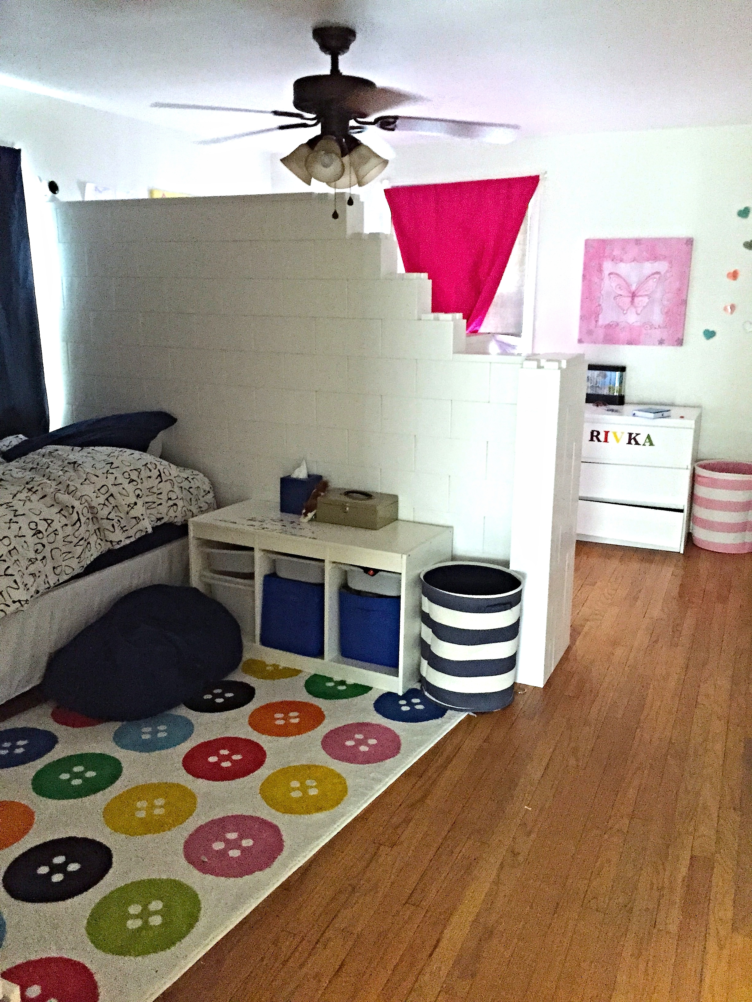 Bedroom Divider Wall For Siblings