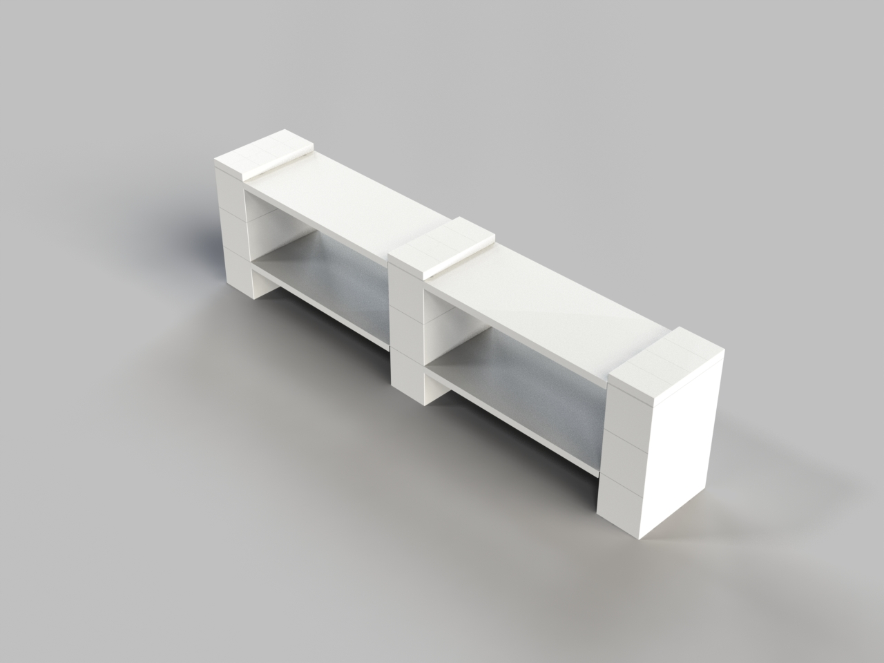 2 Level Double Shelf - Short Version