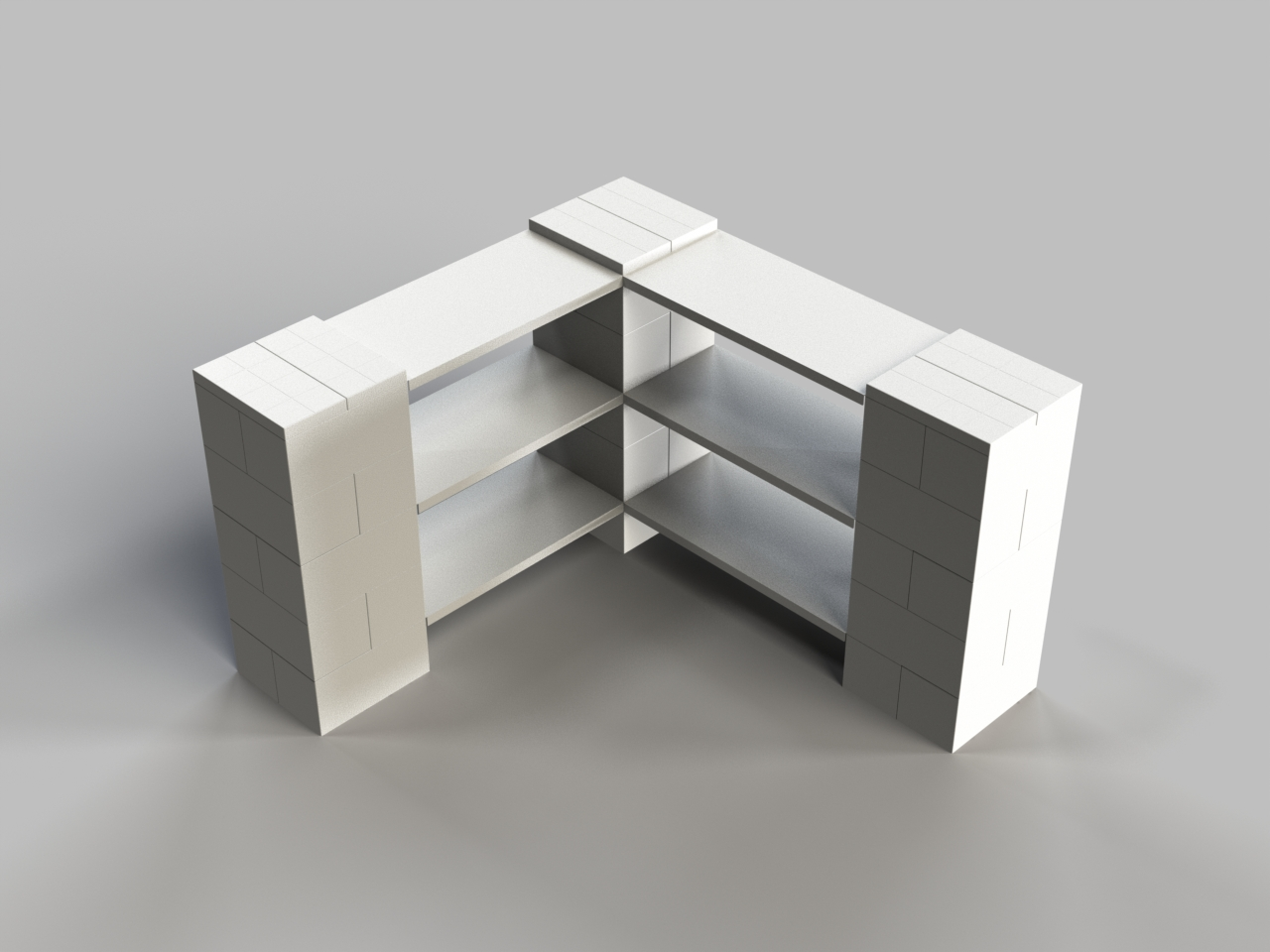 3 Level Corner Shelf A