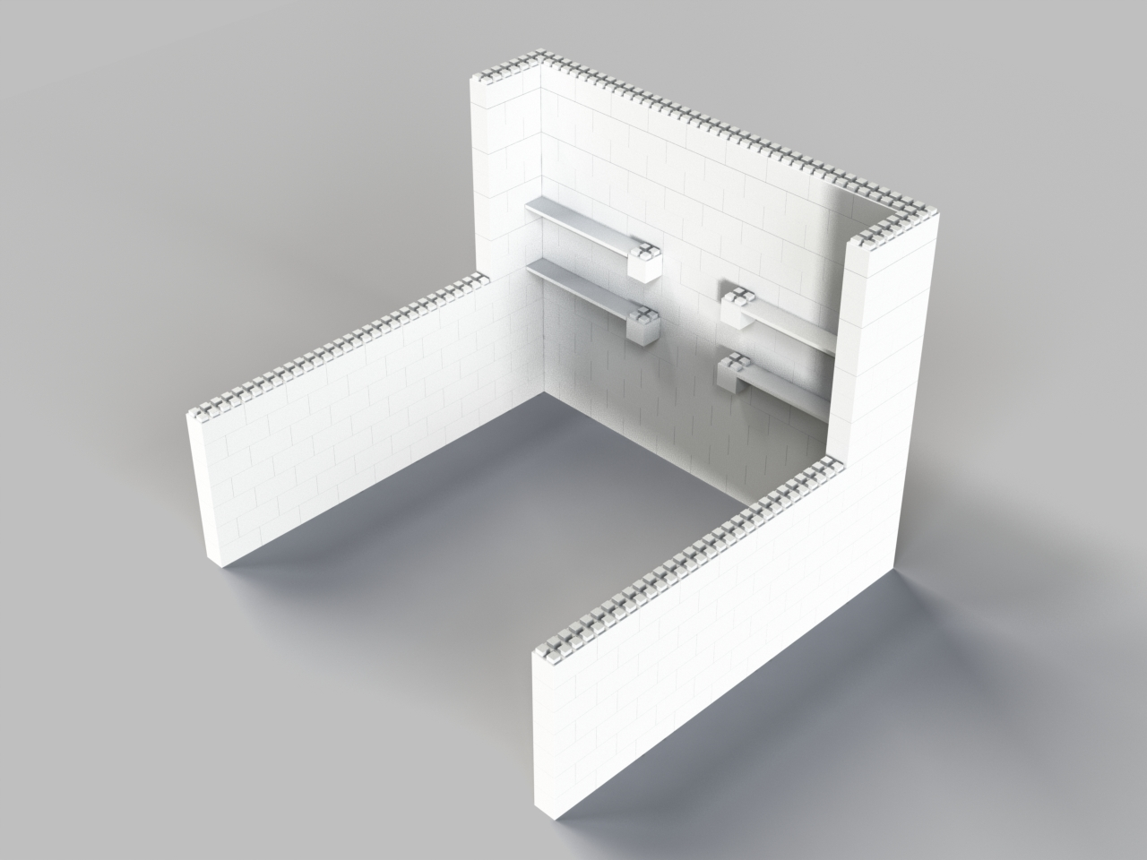 10ft Booth w/ 10ft Wings, and Shelving