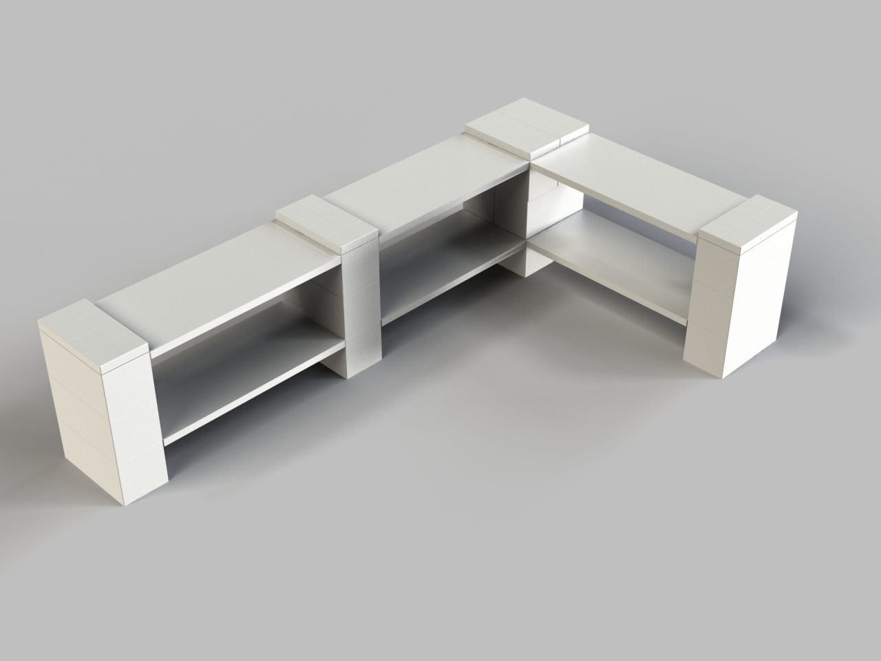 2 Level Double Corner Shelf B