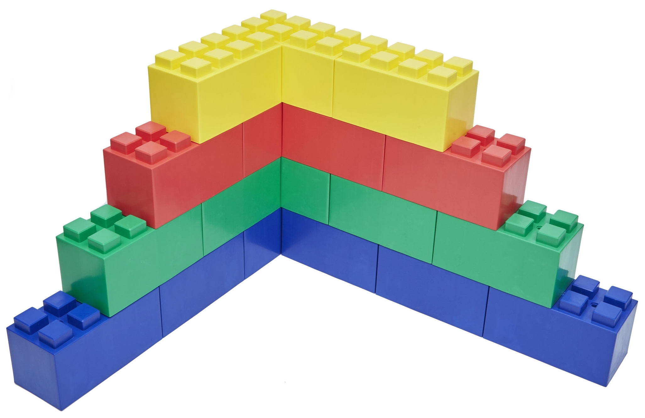 Stagger blocks and change directions as needed