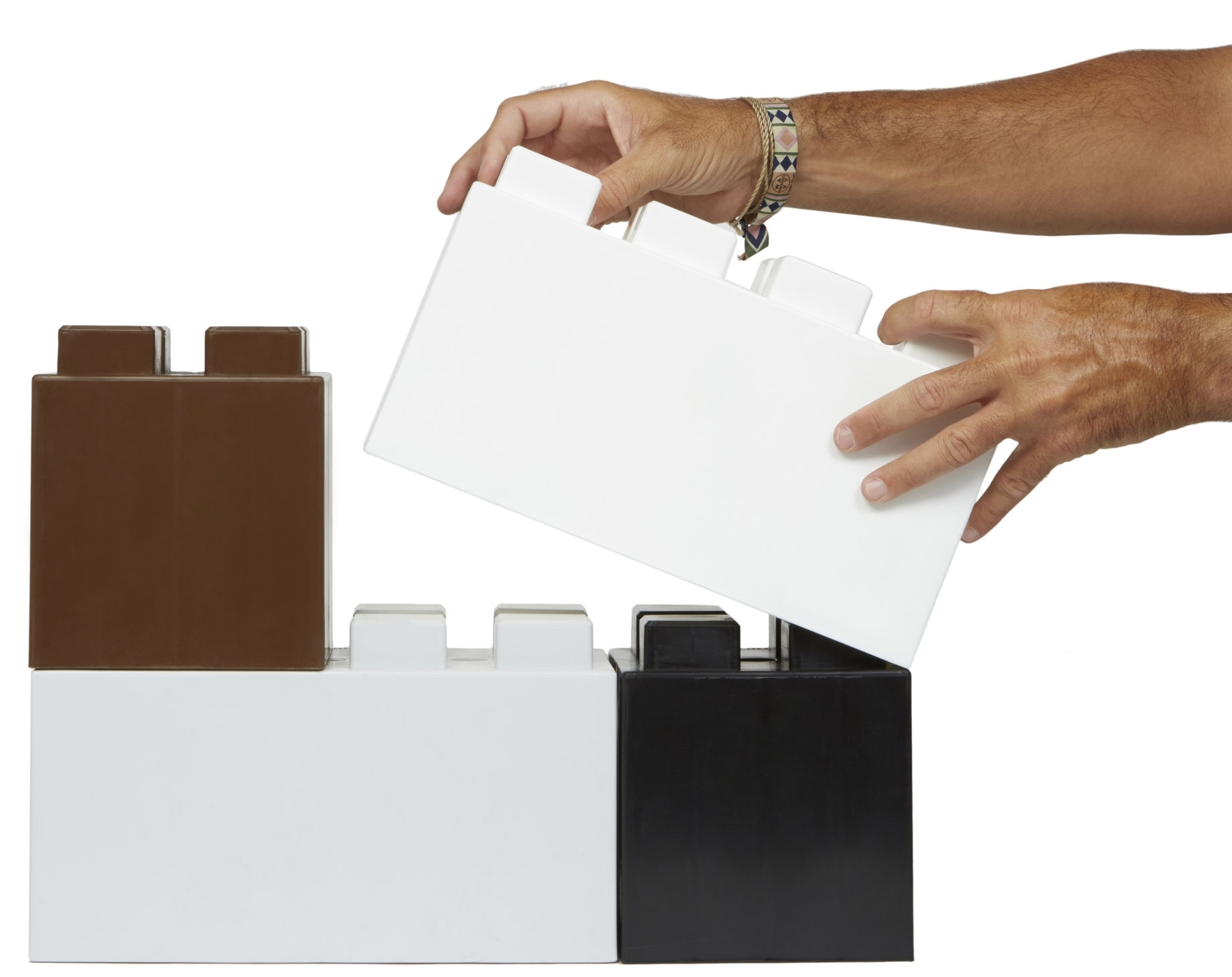 Stagger blocks and alternate sizes for strength and to meet your design objectives