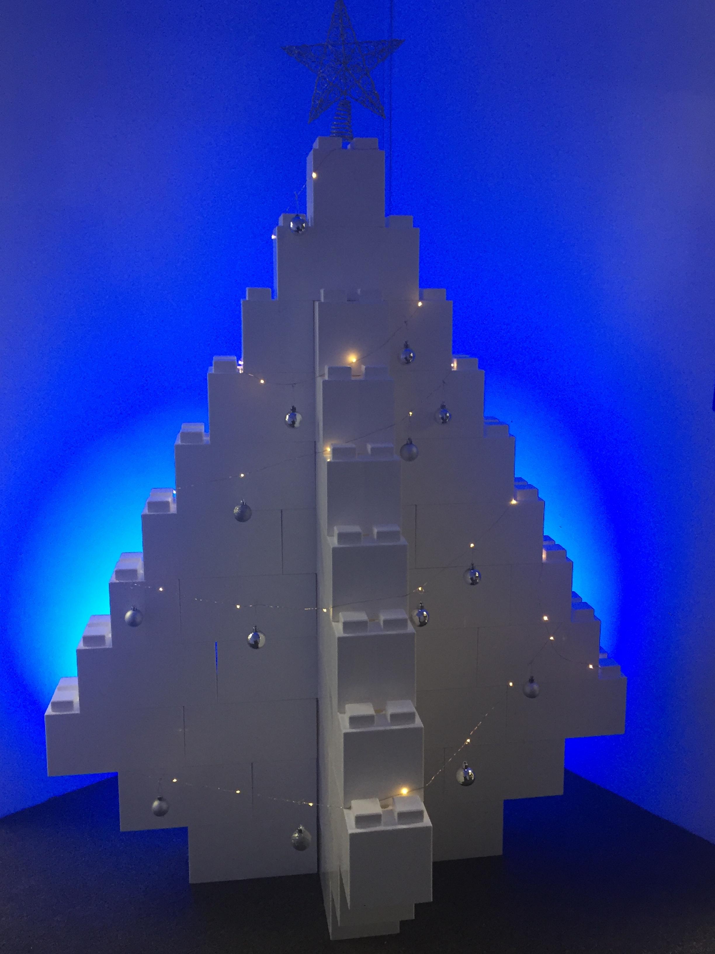 brick christmas tree