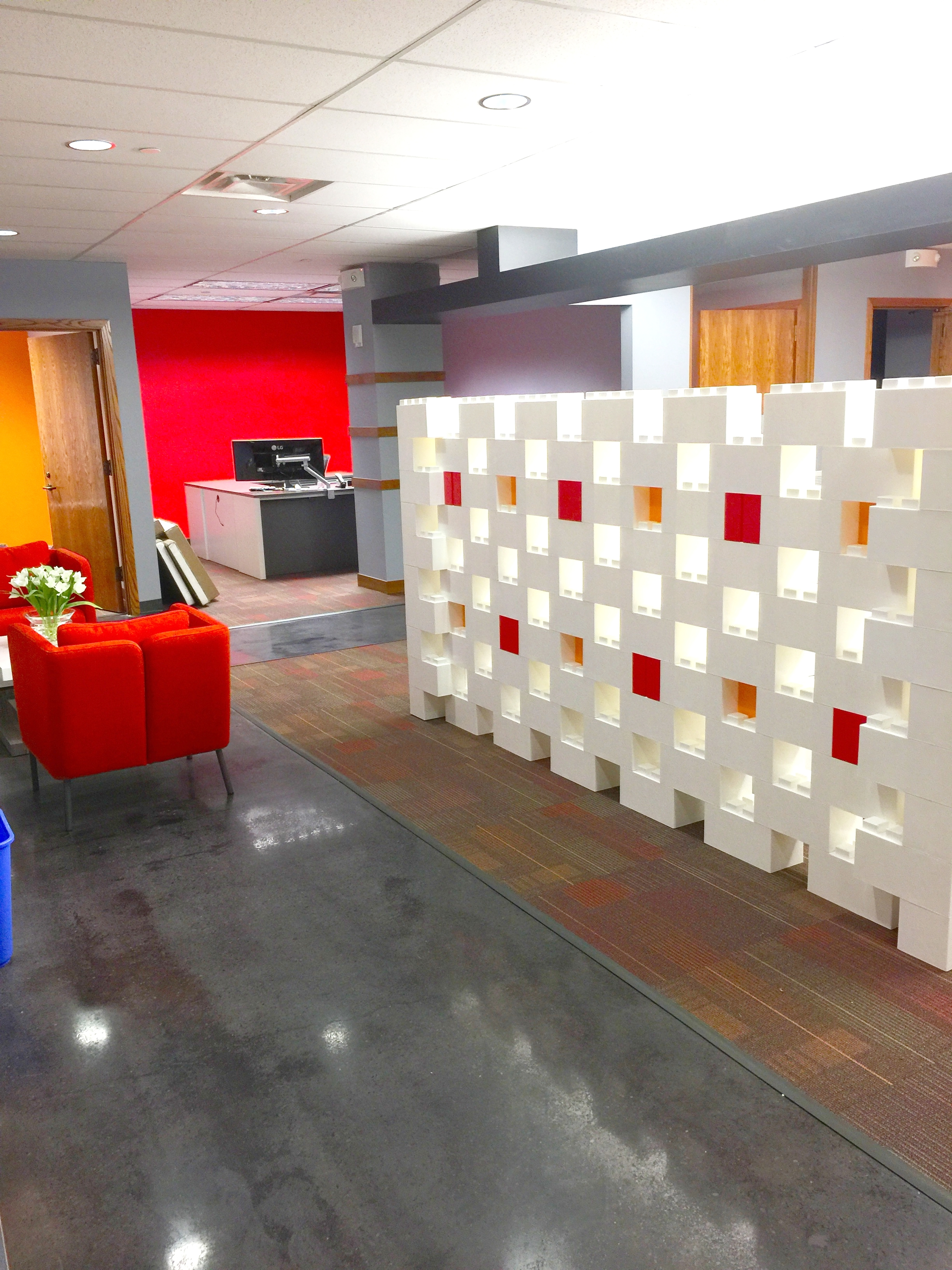 Add privacy to office spaces with unique designs that match office decor.