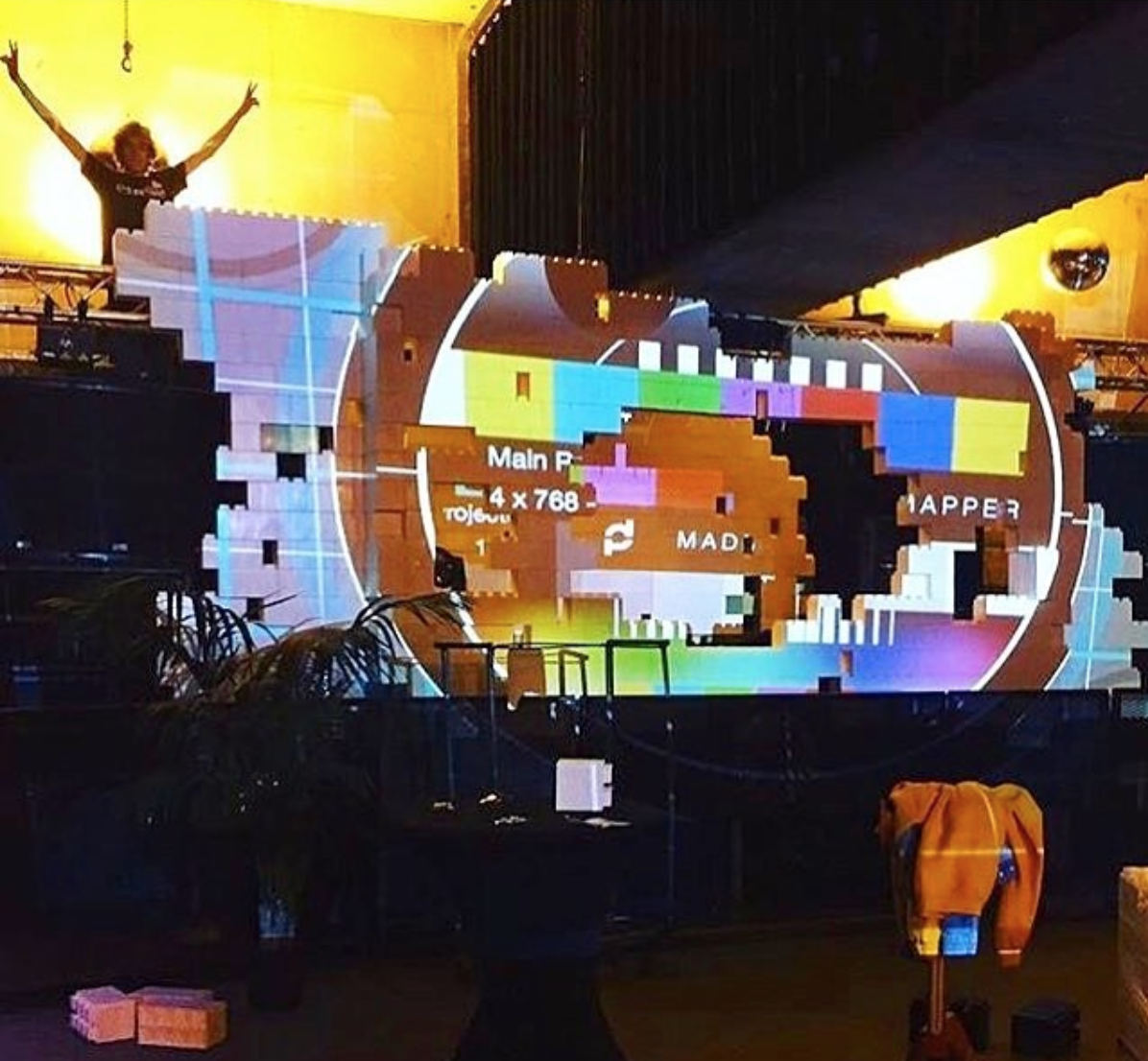 UseEverBlock to create a dramatic effect through projection mapping.