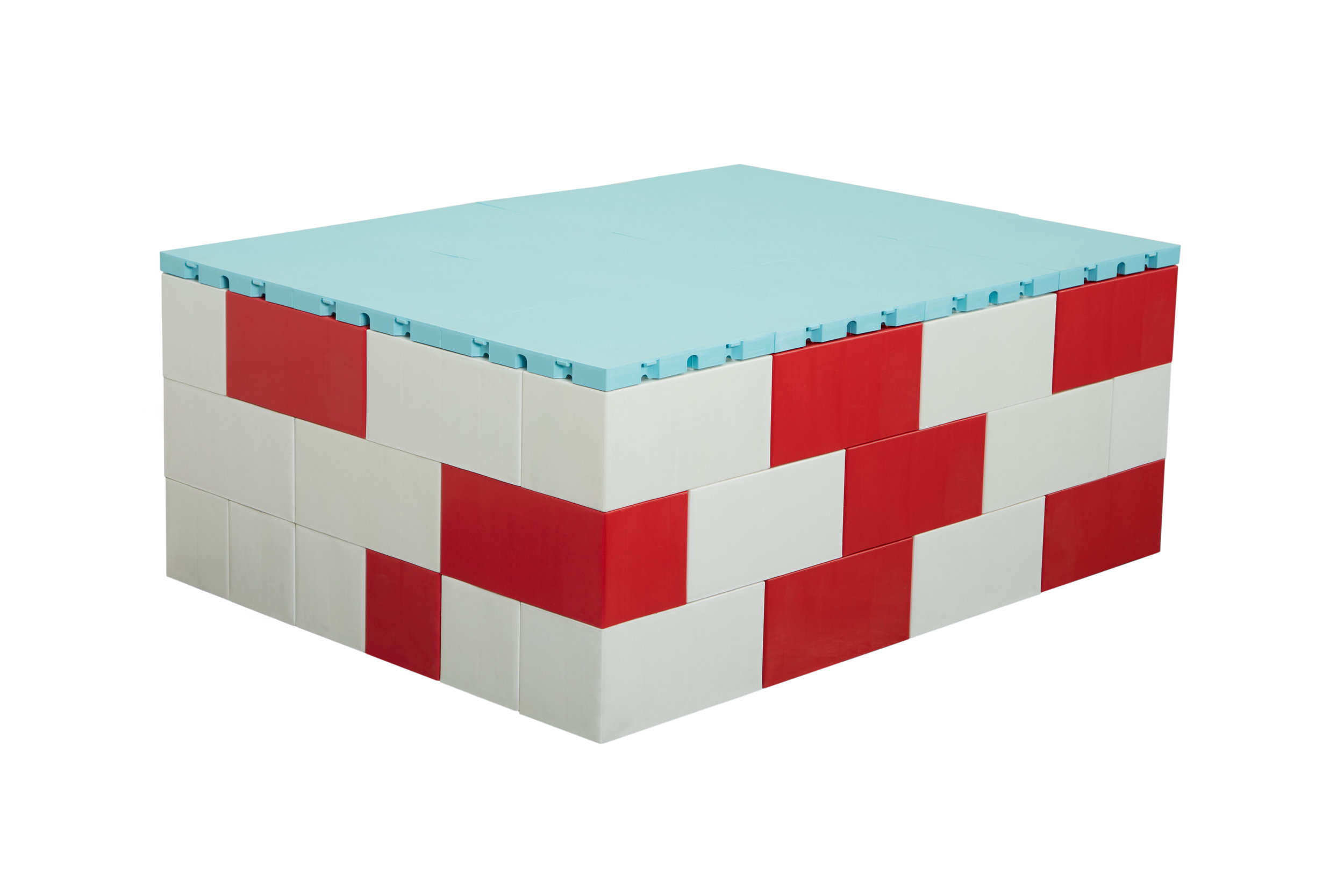 Place flooring on EverBlock blocks to create elevated podiums, platforms, and stages