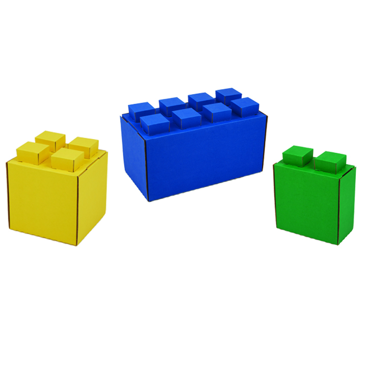30 Block Combo Pack - Varying Sizes & Colors -