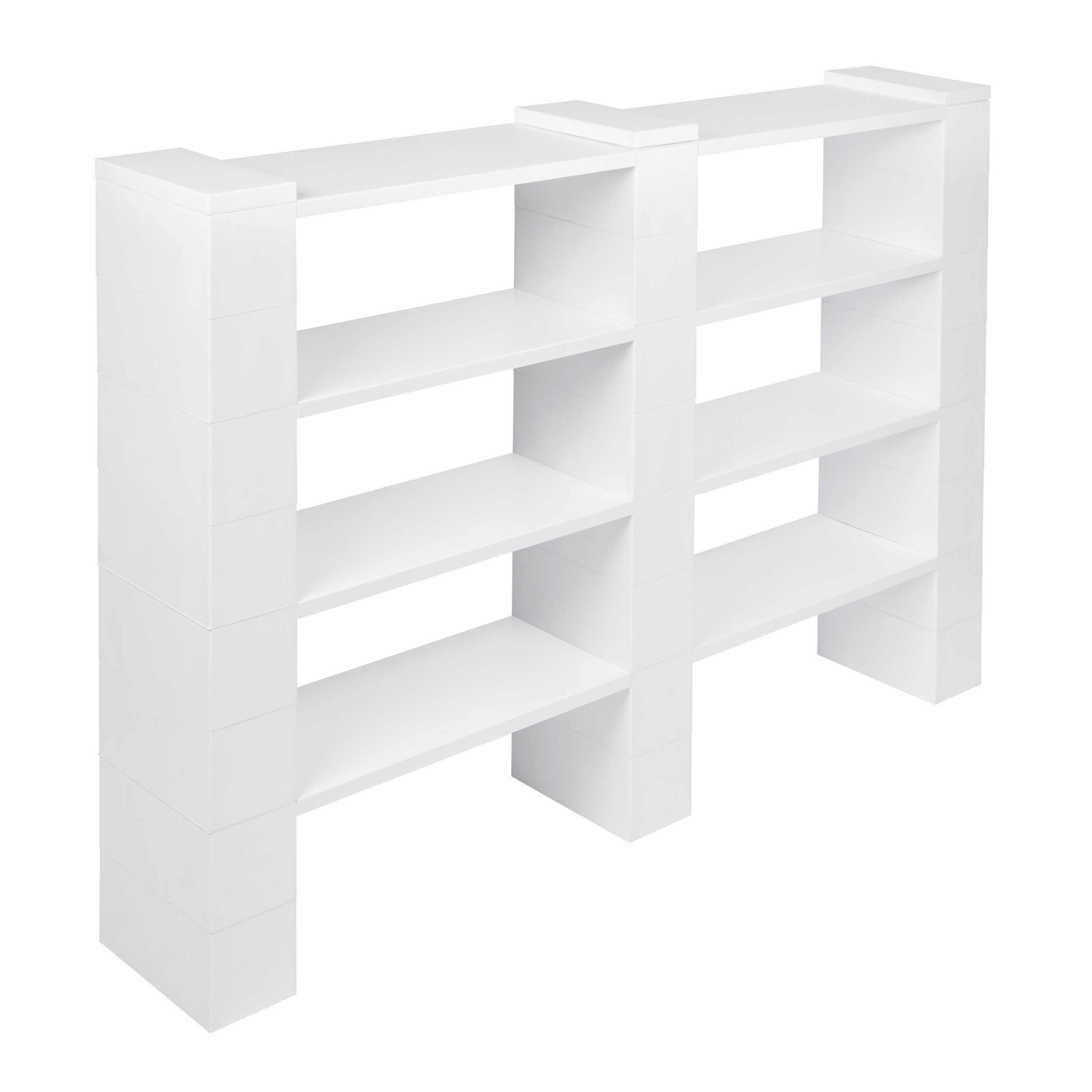 "4 Level, Double Shelf, 72""W EverBlock Shelving Kit"