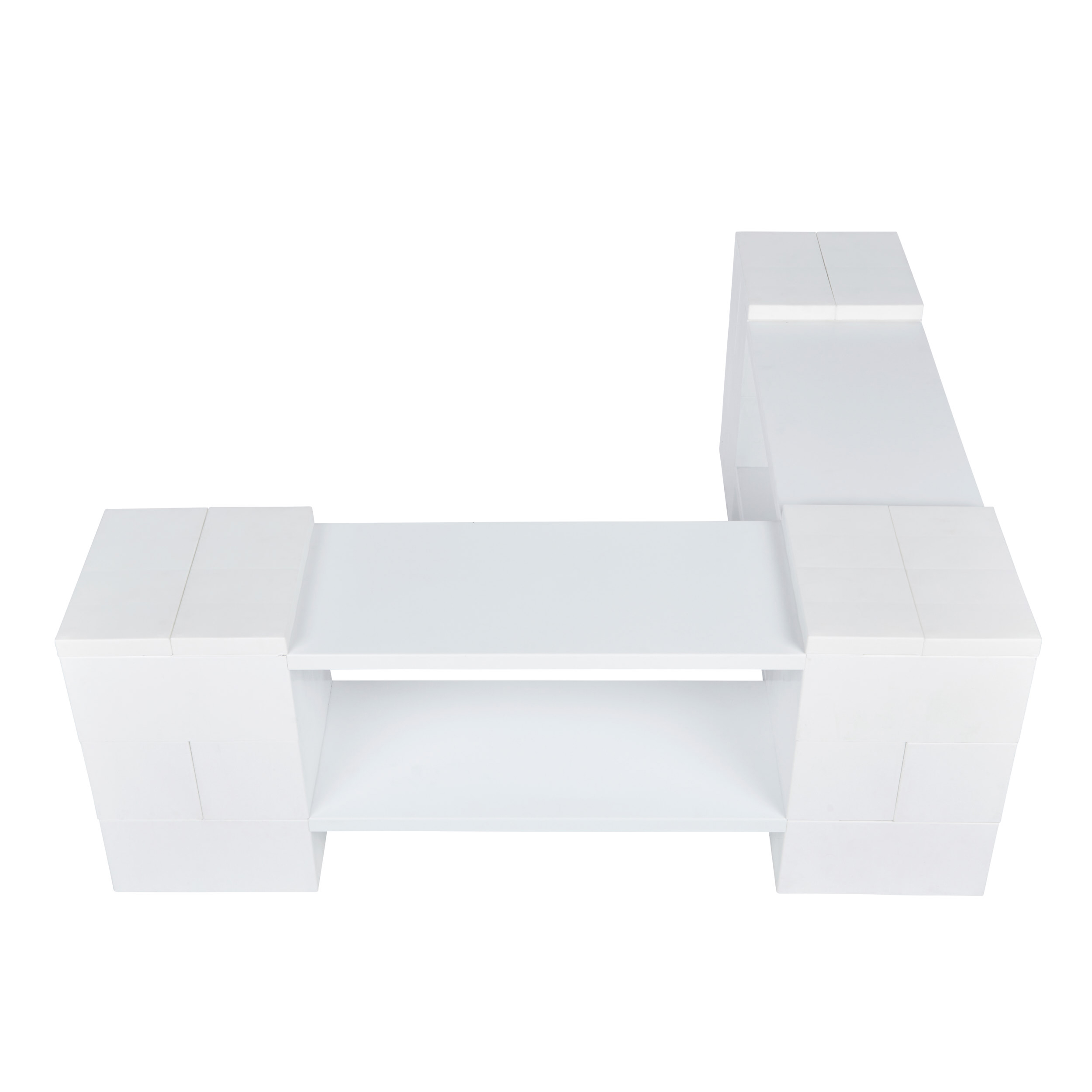2 Level Corner Shelving Kit A