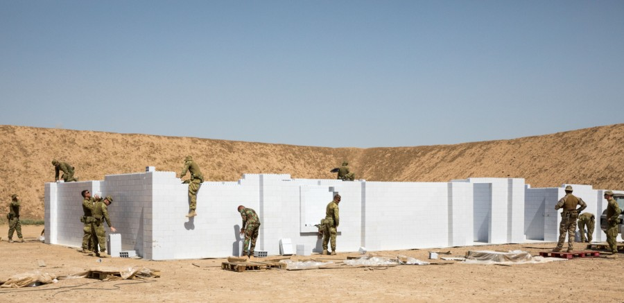 Use to build out entire MOUT (Military Operations on Urban Terrain) facilities for training units - reconfigure each building to vary the training.