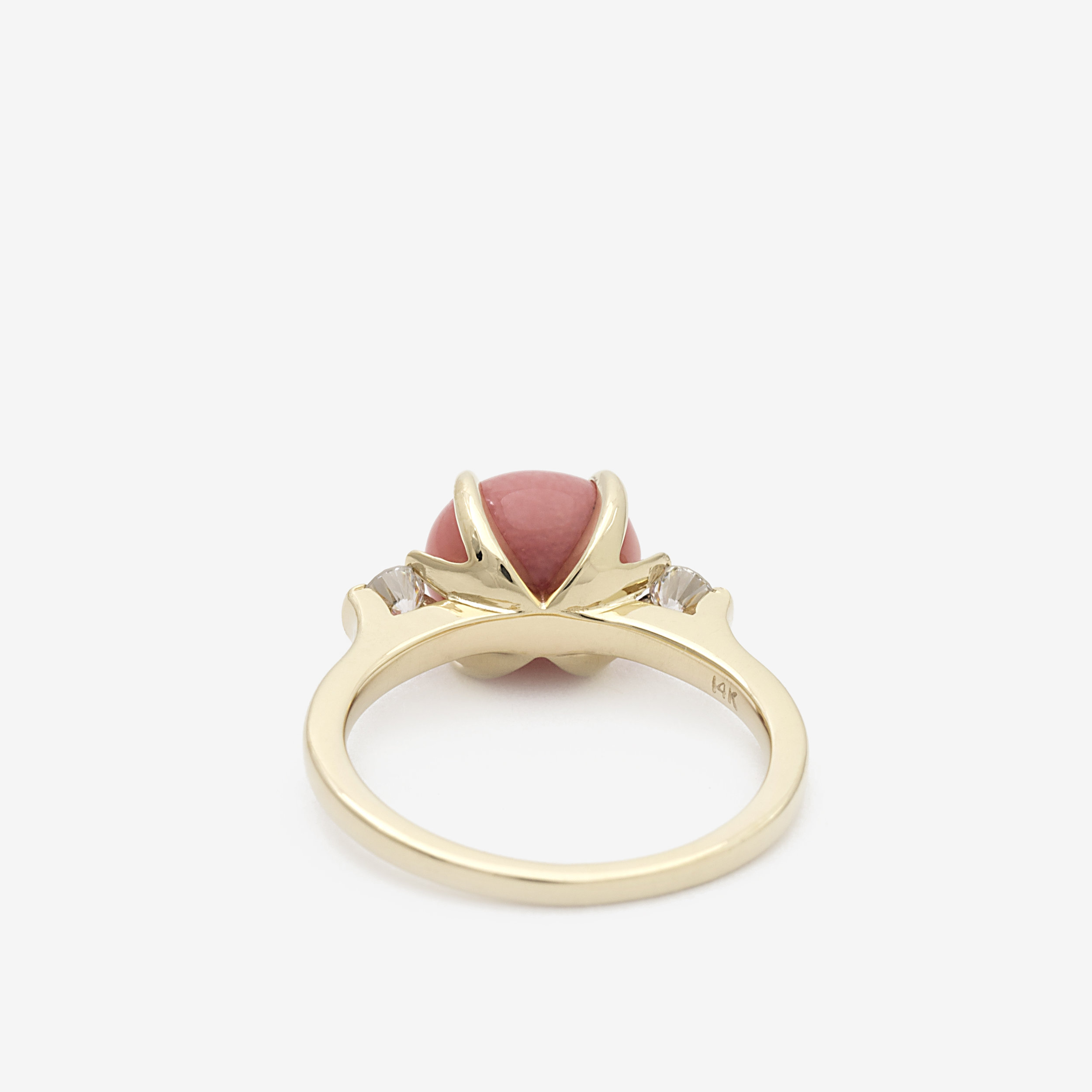 Conch Pearl & Diamond Engagement Ring - Back.jpg