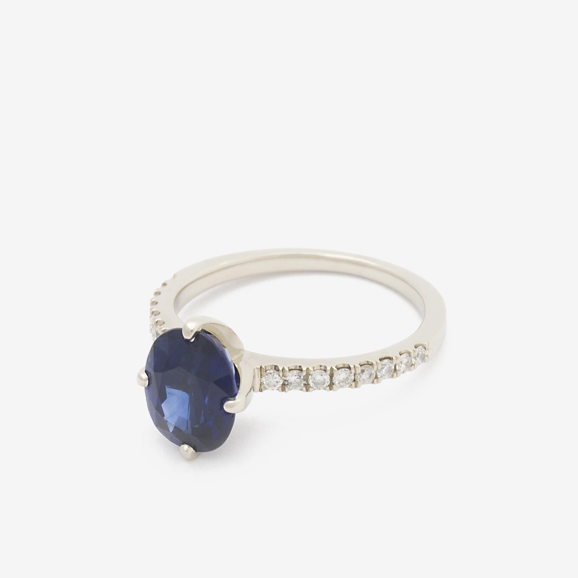 Michaela - White Gold Sapphire and Diamond Engagement Ring.jpg