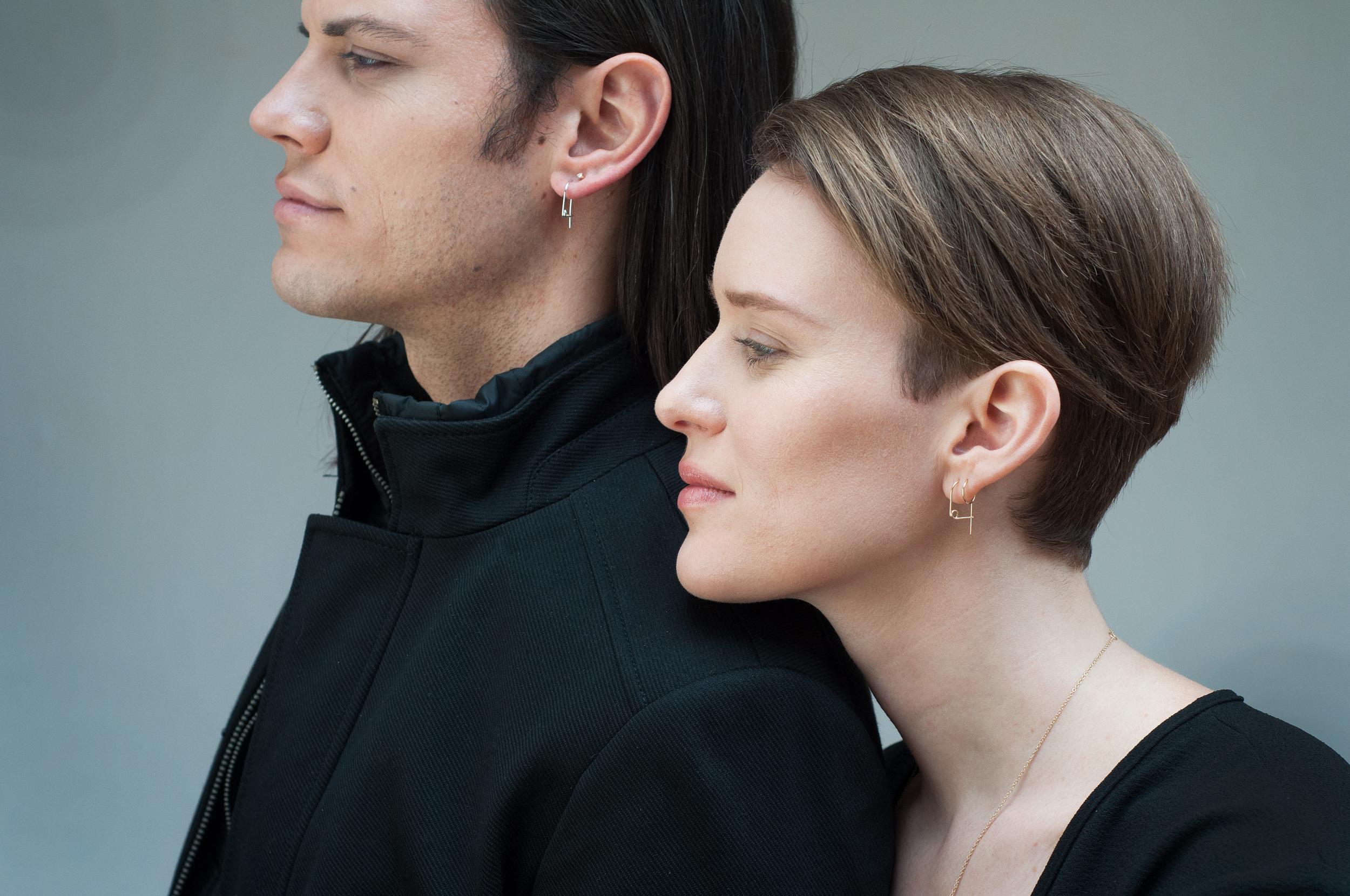 Spilla Earring  -  Diamond Stud -  Huggie Earring (8mm)