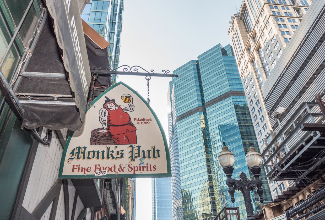 Chicago magazine, September 2017: Monk's Pub ain't going anywhere.