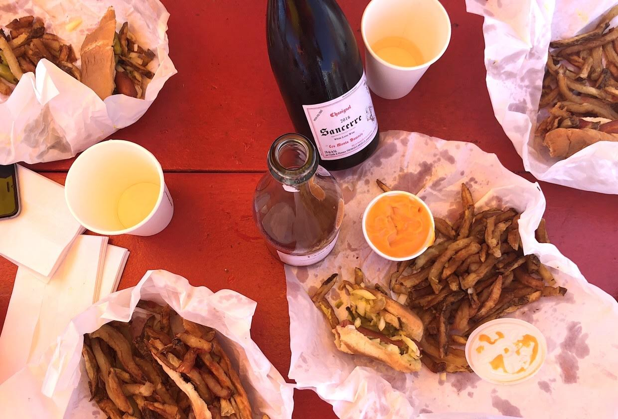 Pairing wine and Chicago-style hot dogs
