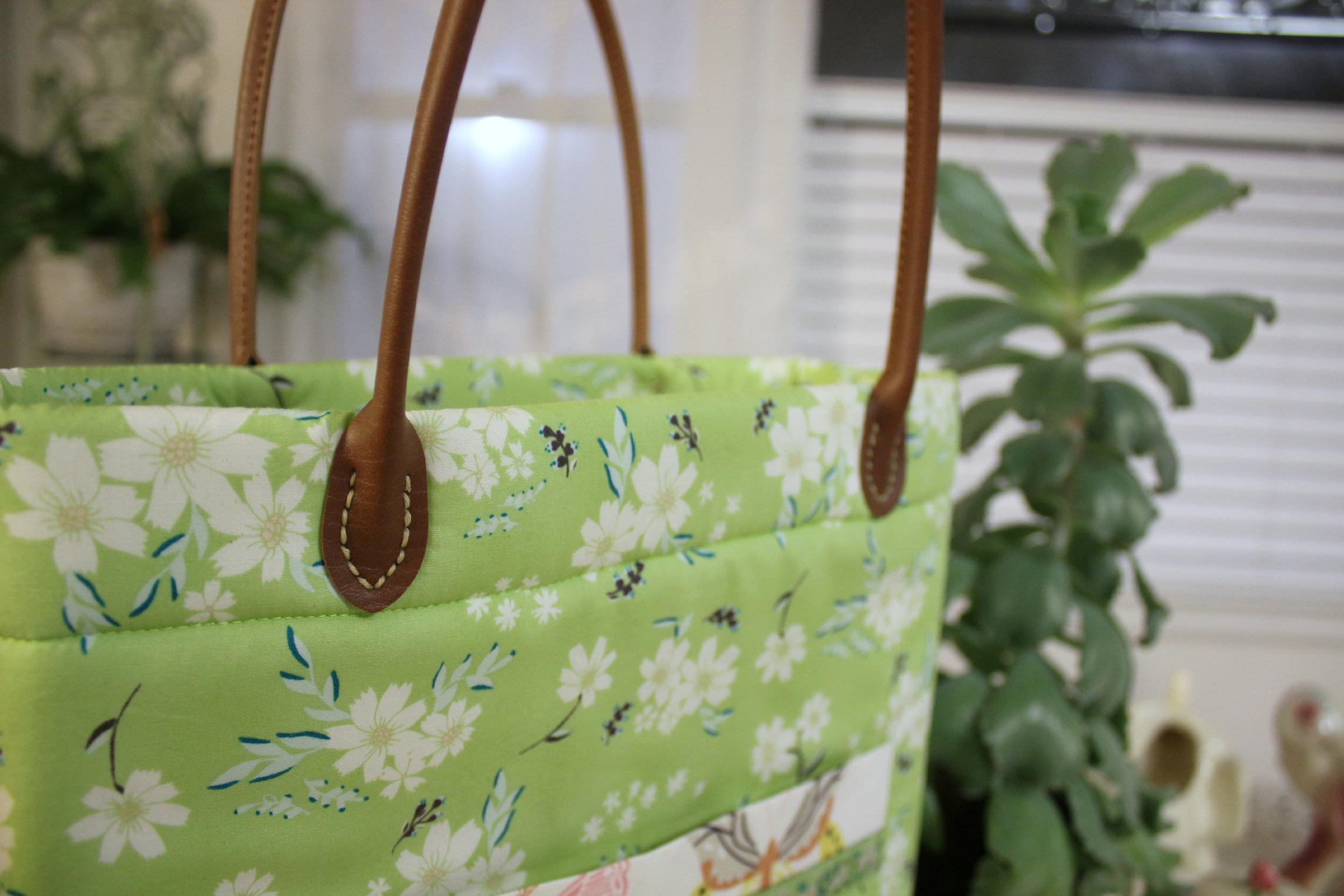 Handles sewn onto The Perfect Whatever Bag
