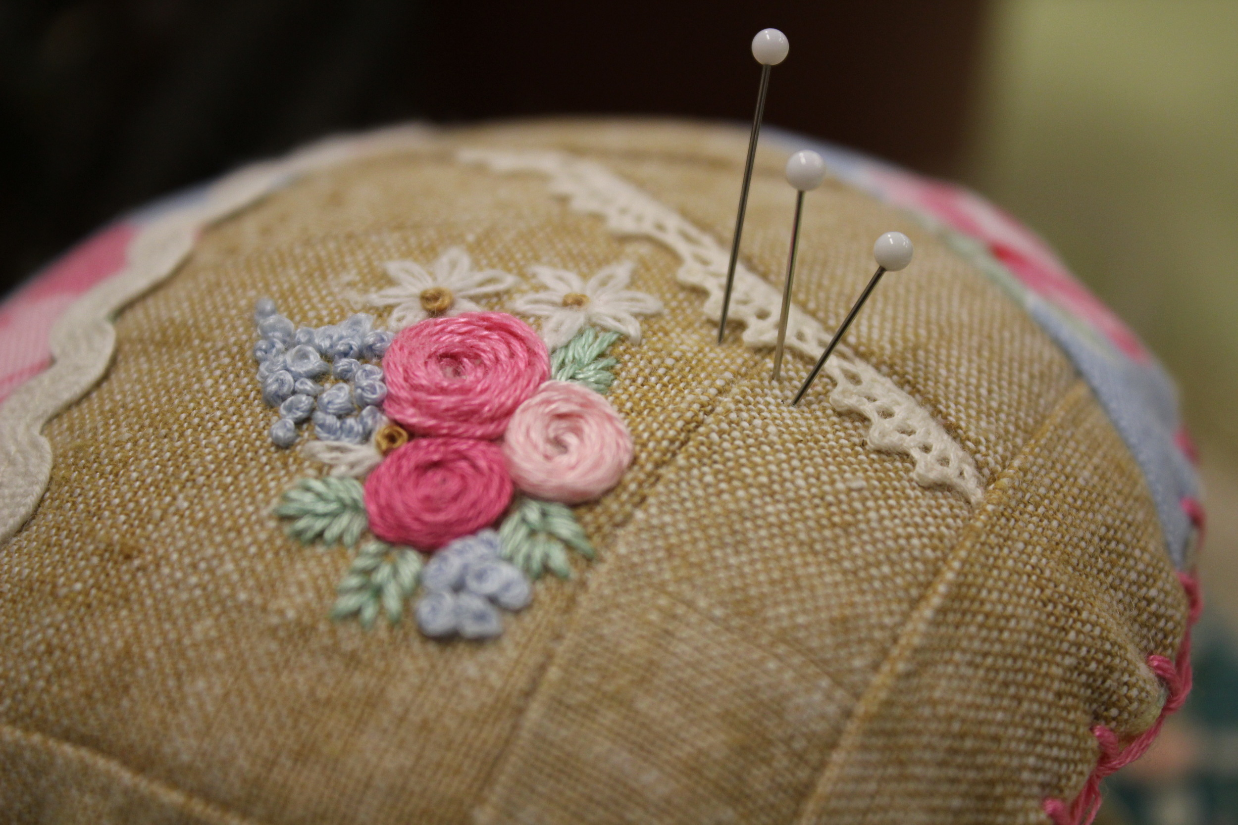 Hand Embroidered Roses