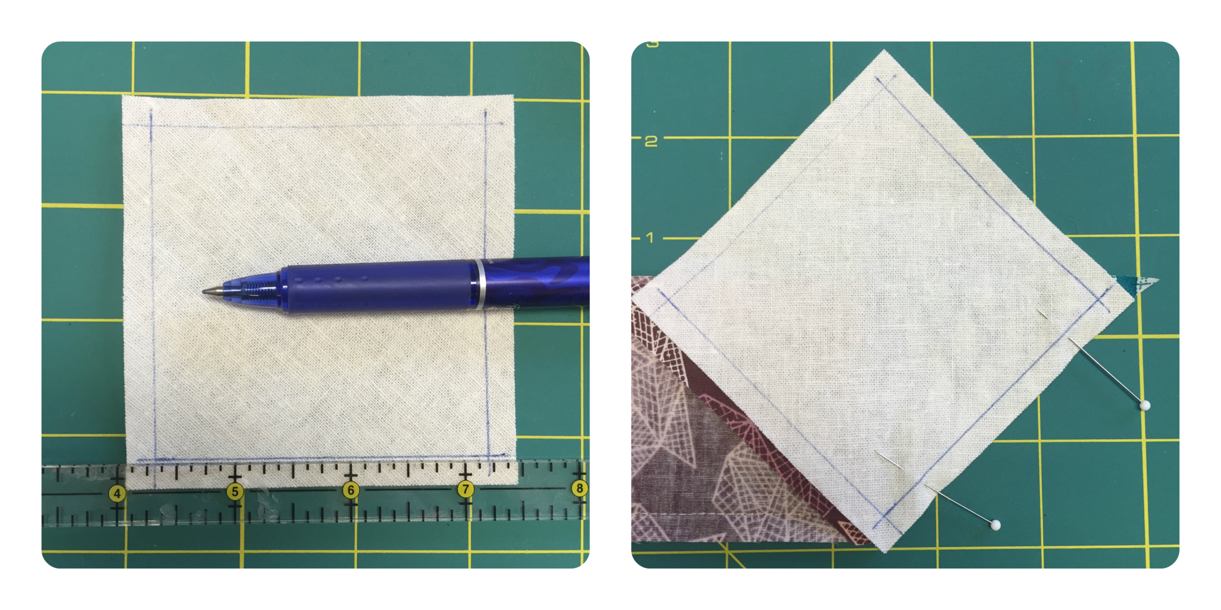 Sewing a 'Y Seam'.