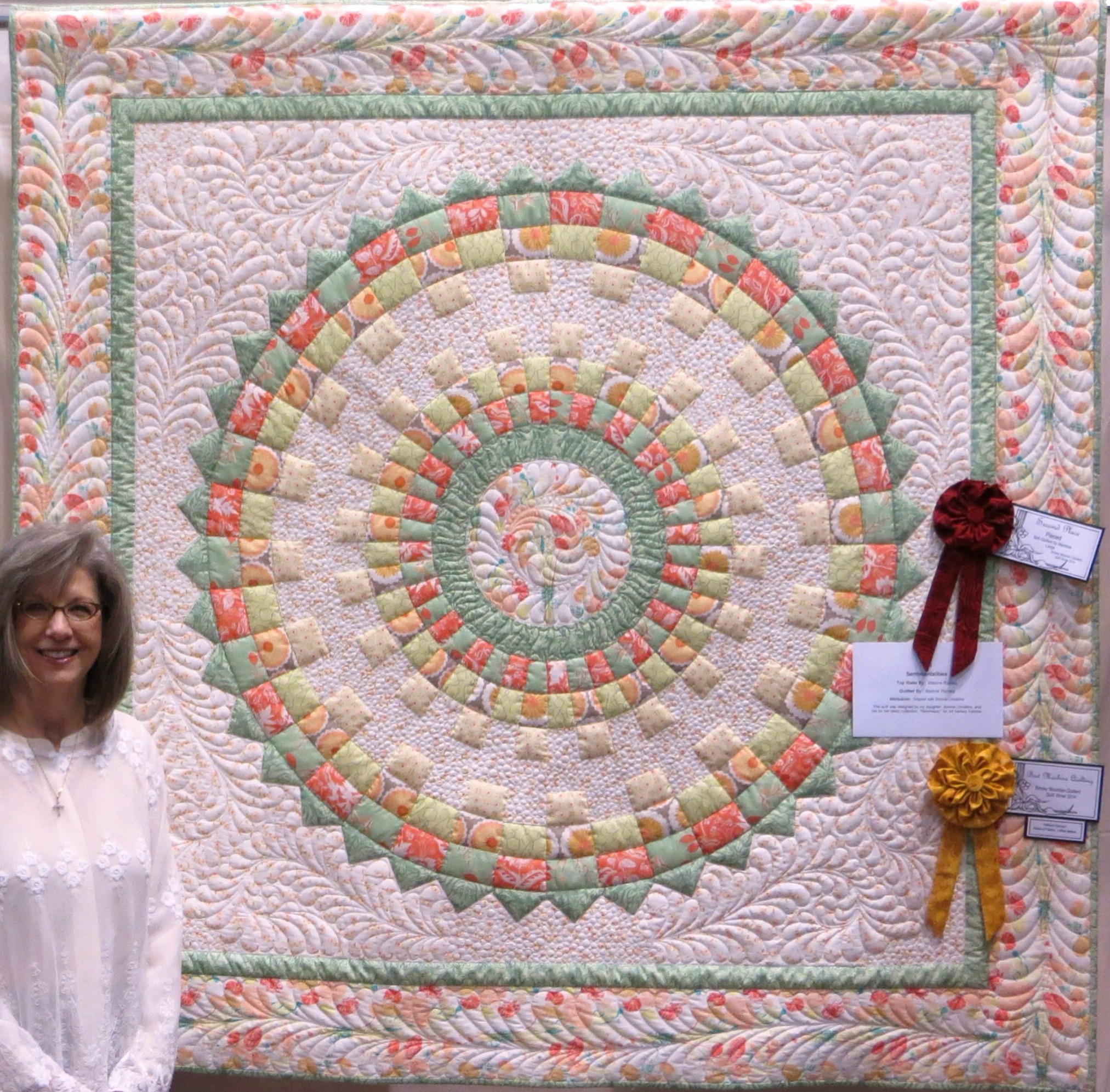Sentimentalities Dresden Plate Quilt