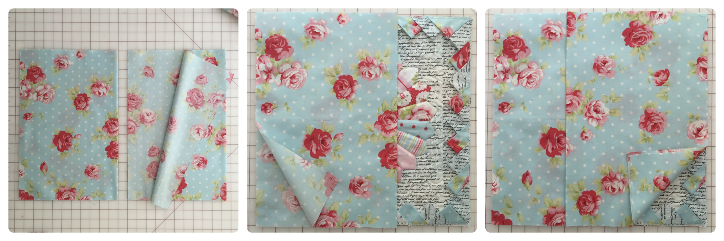 How to make an envelope pillow back.