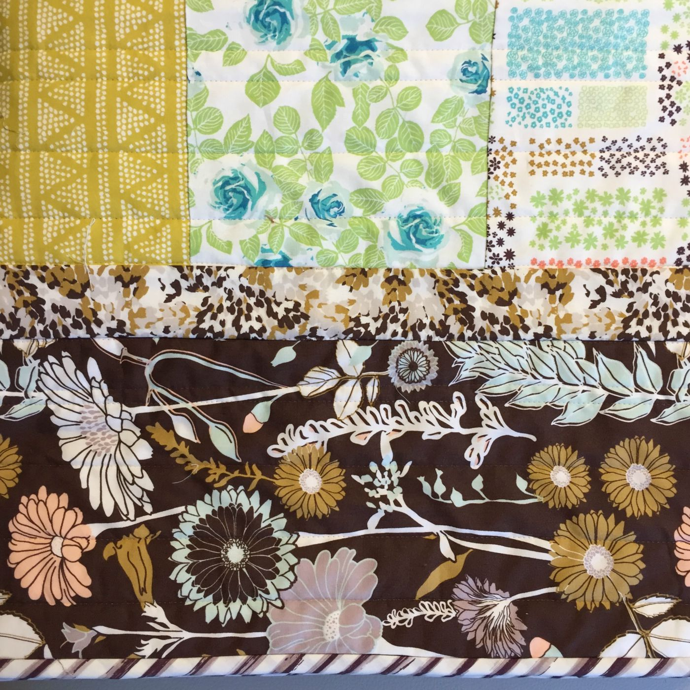Cultivate fabrics by Bonnie Christine play together beautifully in this fast, easy quilt.