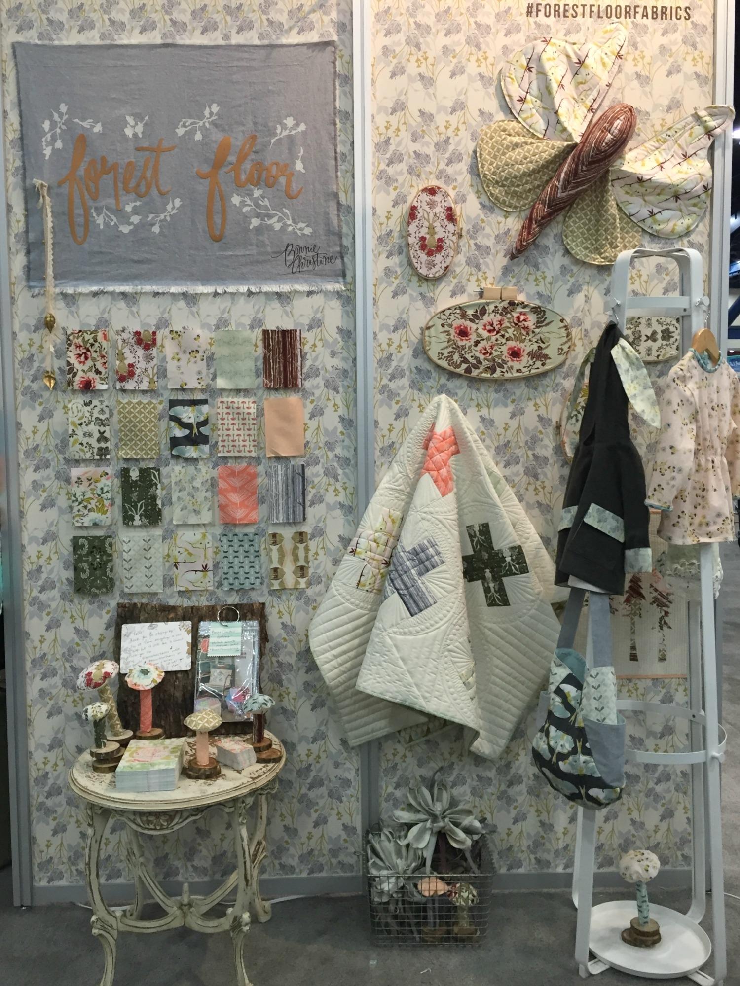 Forest Floor at International Quilt Market. Bonnie Christine for Art Gallery Fabrics.