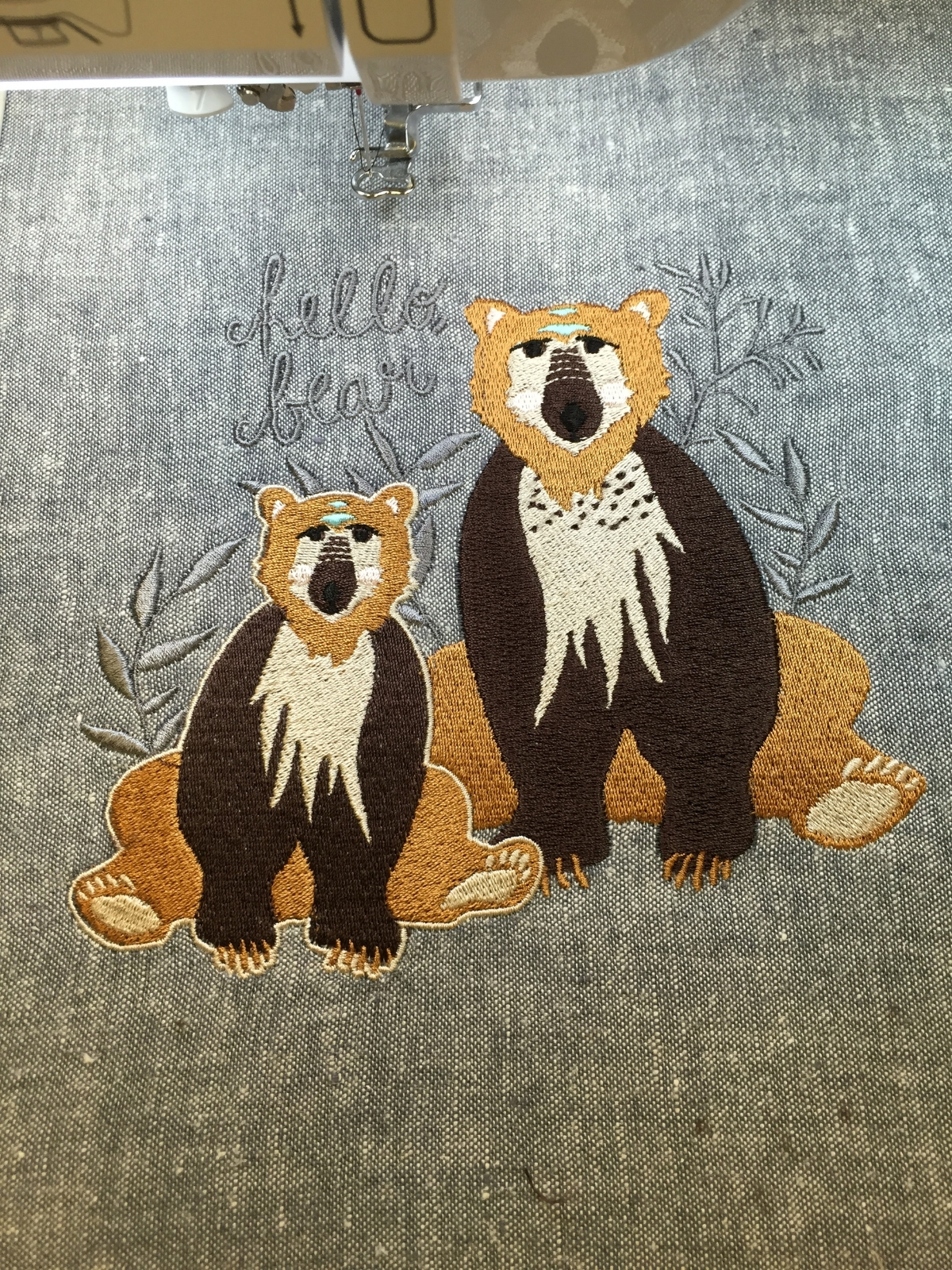 Hello, Bear and my Baby Lock Destiny Sewing/Embroidery Machine