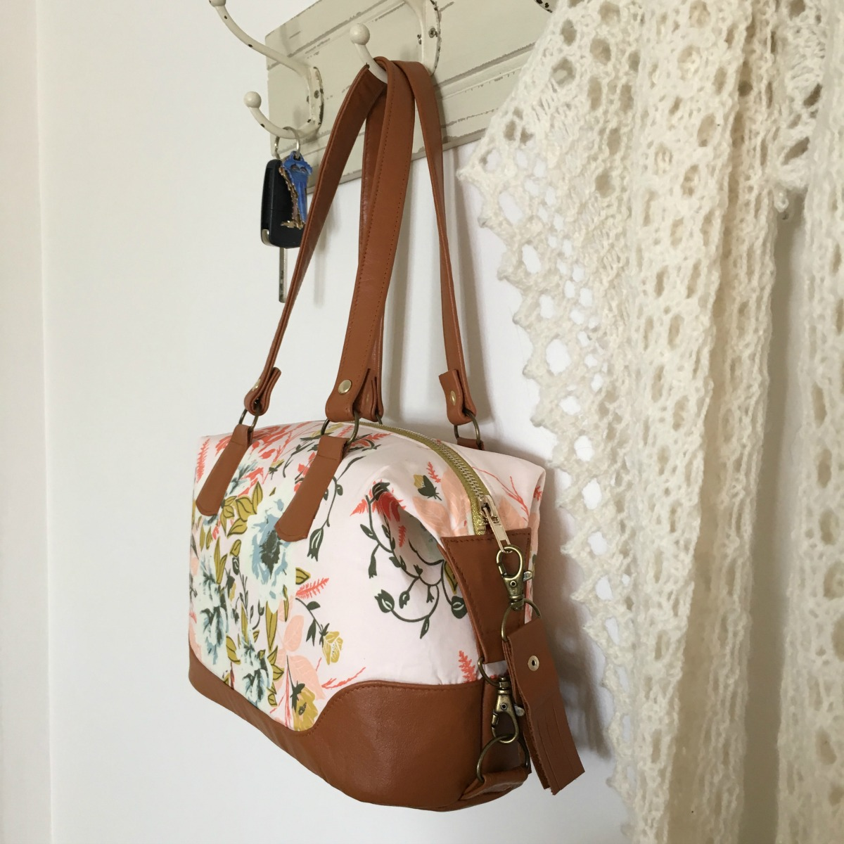 Brooklyn Bag by Swoon Patterns, made by Maxie Makes for Bonnie Christine's 'Forest Floor' for Art Gallery Fabrics.