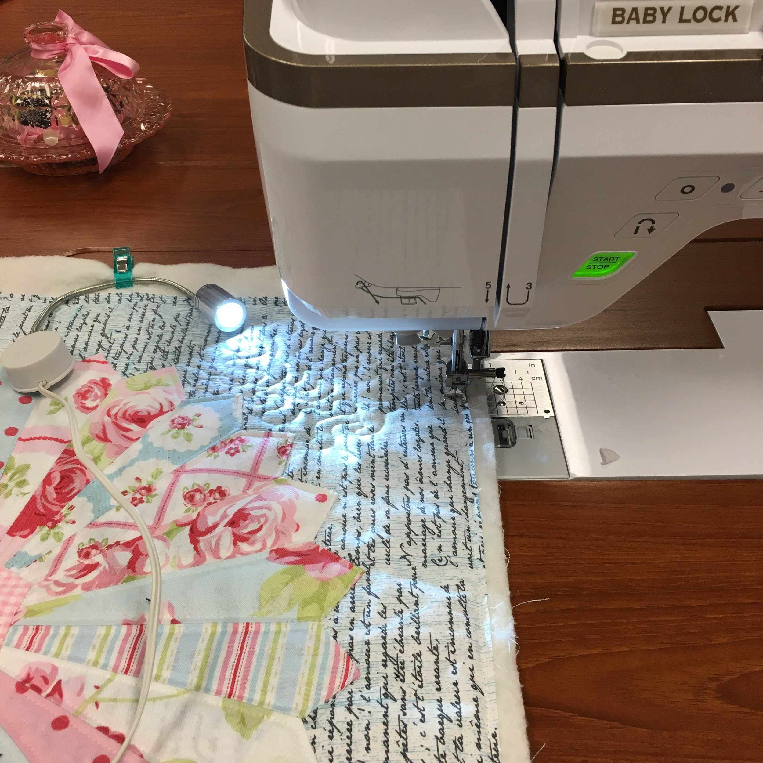 Quilting with the Mighty Bright Light