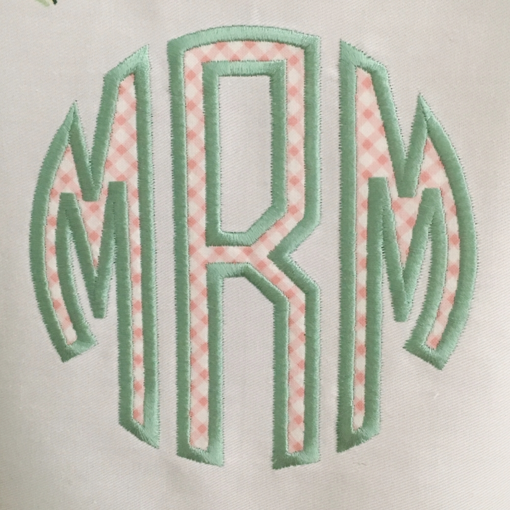 Applique´Monogram