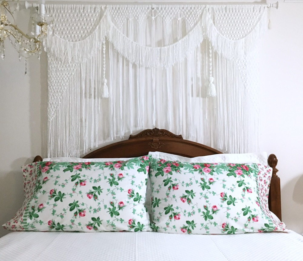 Pillow Case and Macramè Headboard