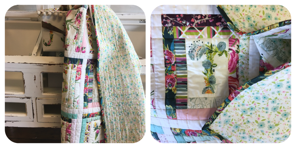 "For a soft and snugly quilt, try using  knit  as a backing! Art Gallery's excellent knit is about 56"" wide, so smaller quilts don't require piecing. At this time I don't offer knit on my shopping page...just check your local quilt shop."