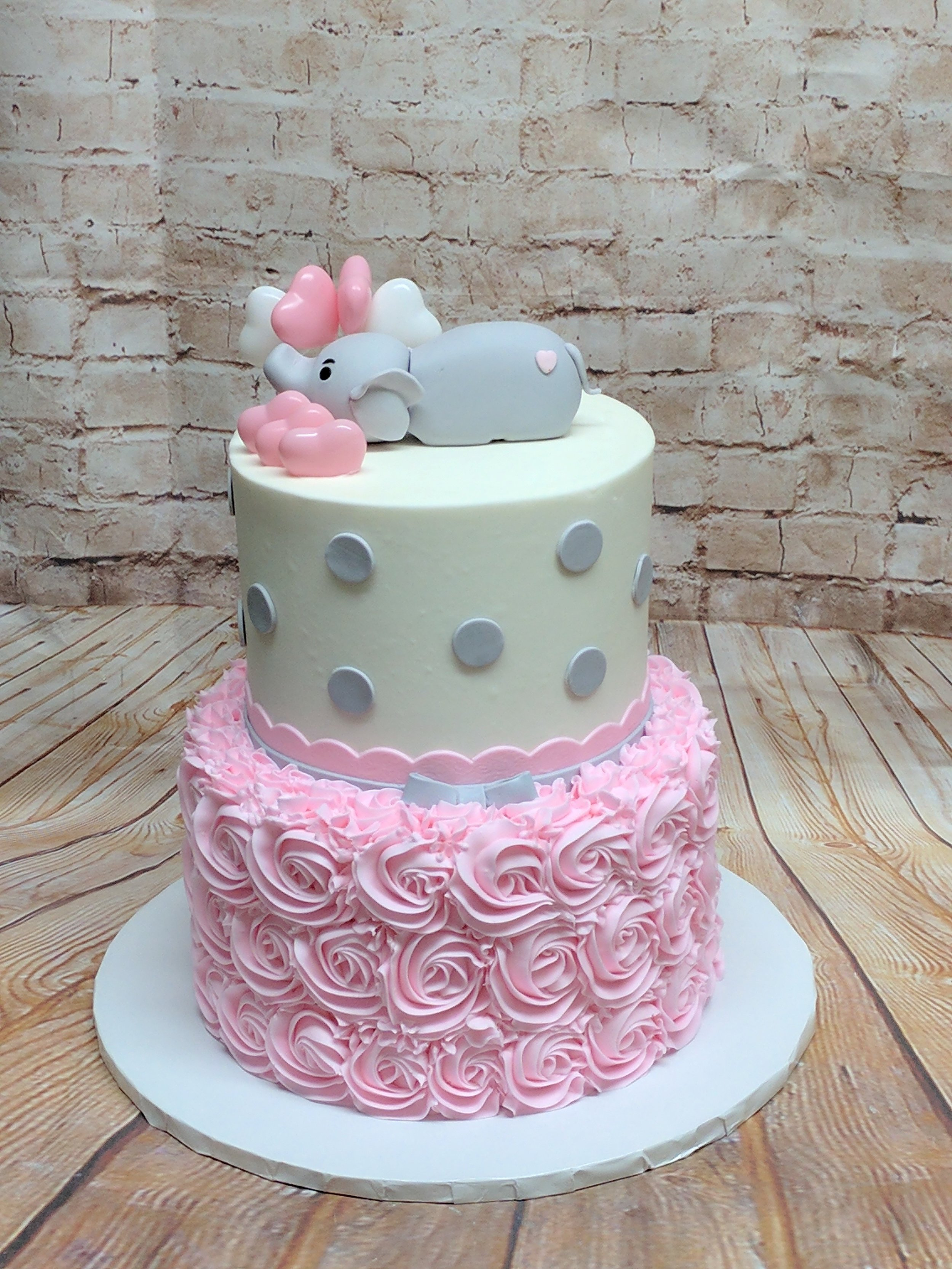 Pink Elephant Cake with Hearts .jpg