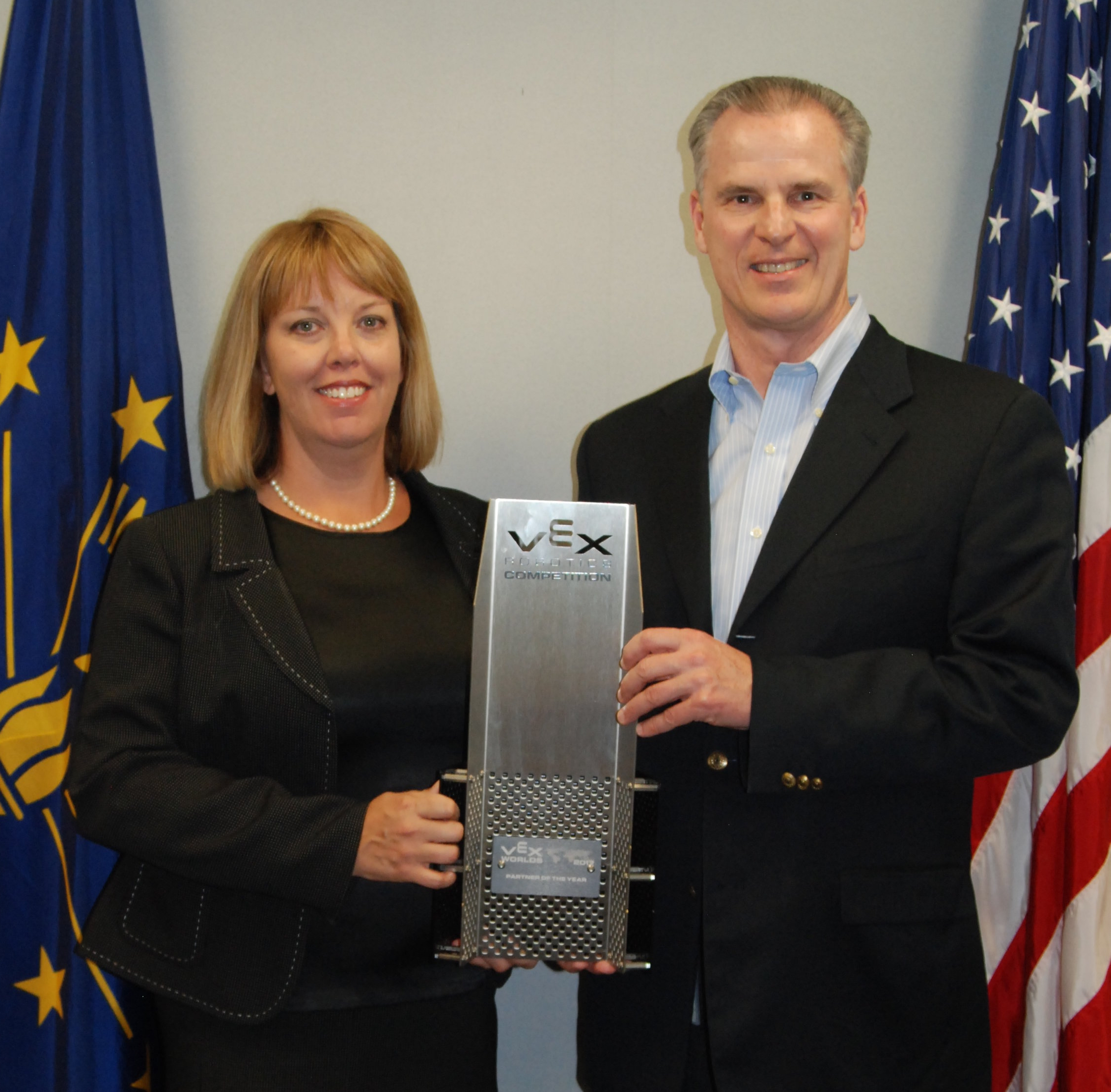 TPF4Y Executive Director Laura Dodds and DWD Commissioner Steve Braun
