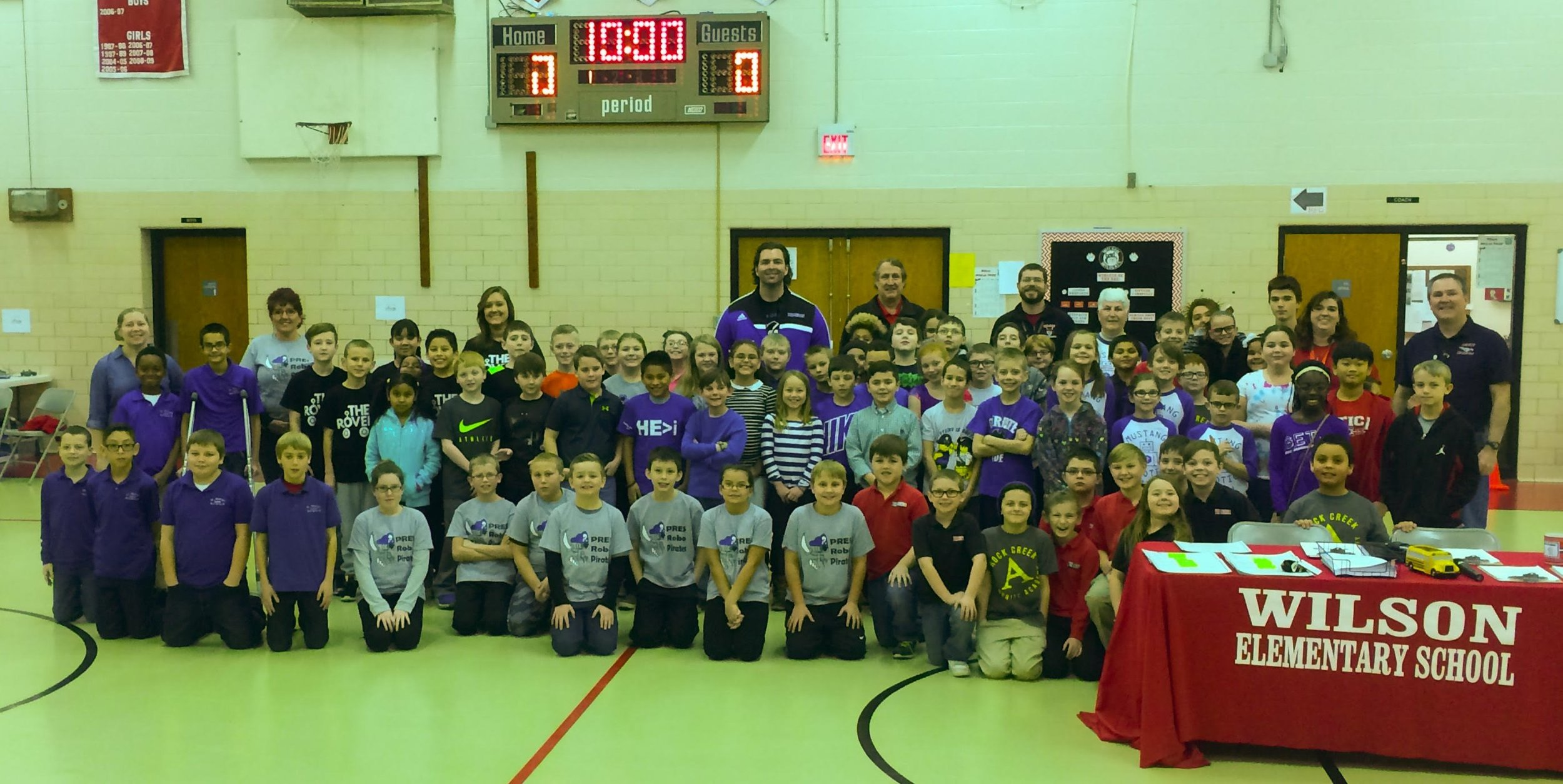 Teams from all elementary schools in Greater Clark County gathered for a scrimmage in February 2017.