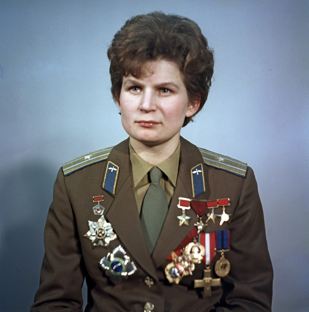Russian cosmonaut Valentina Tereshkova was the first woman to fly in space! In 1963, she orbited the earth once every 88 minutes by operating her spacecraft manually. (photo: RIA Novosti archive)